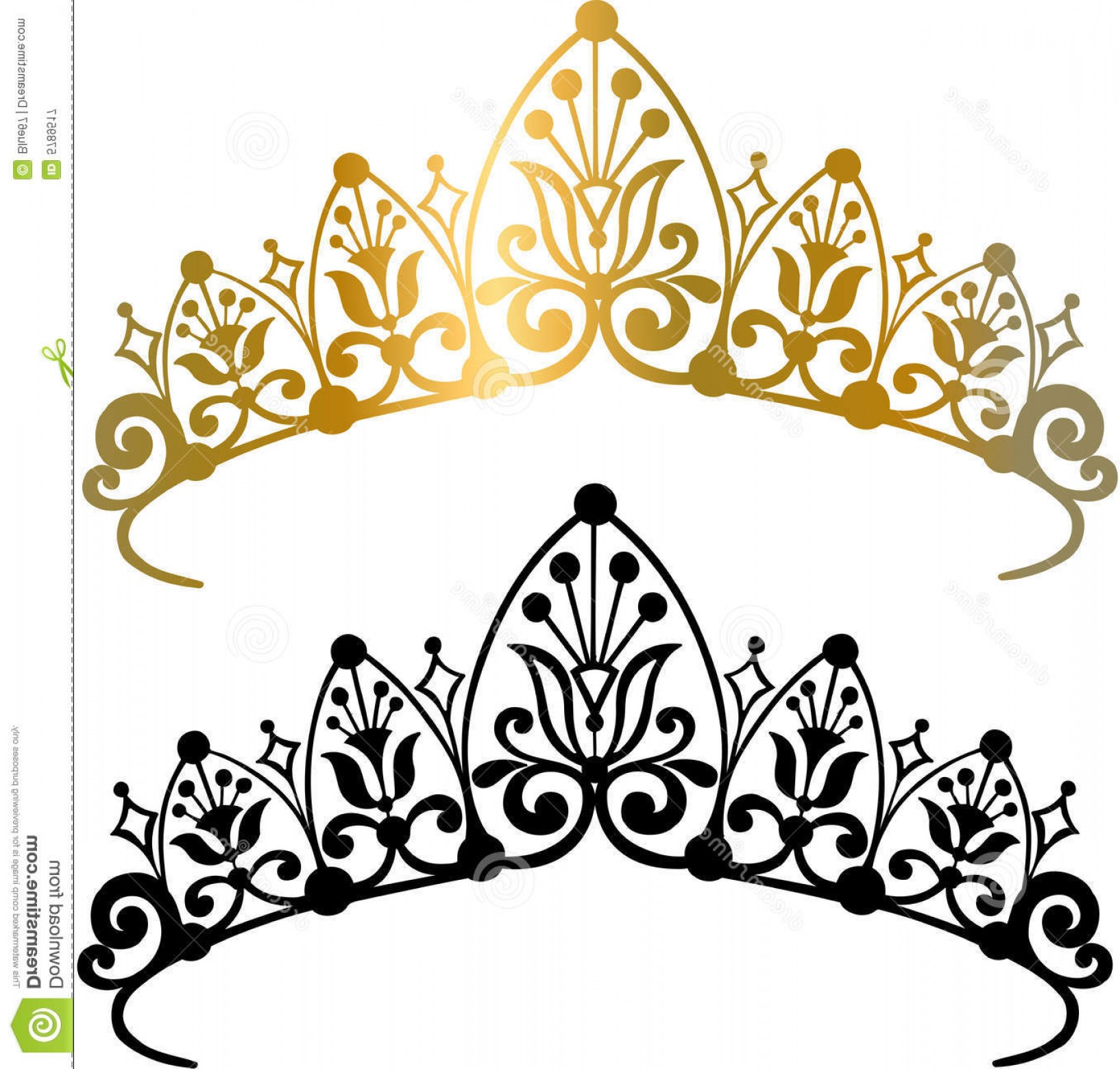 Pageant Tiaras Vector: Royalty Free Stock Photography Tiara Crown Vector Illustration Image