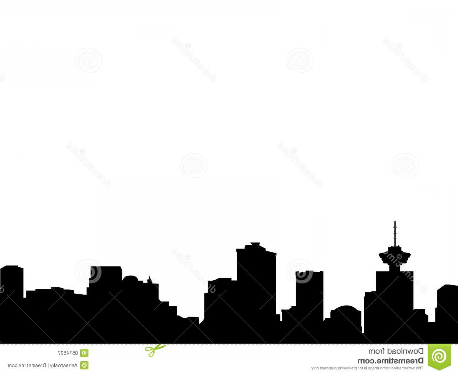 Vancouver Skyline Vector: Royalty Free Stock Photography Vancouver Skyline Silhouette Image