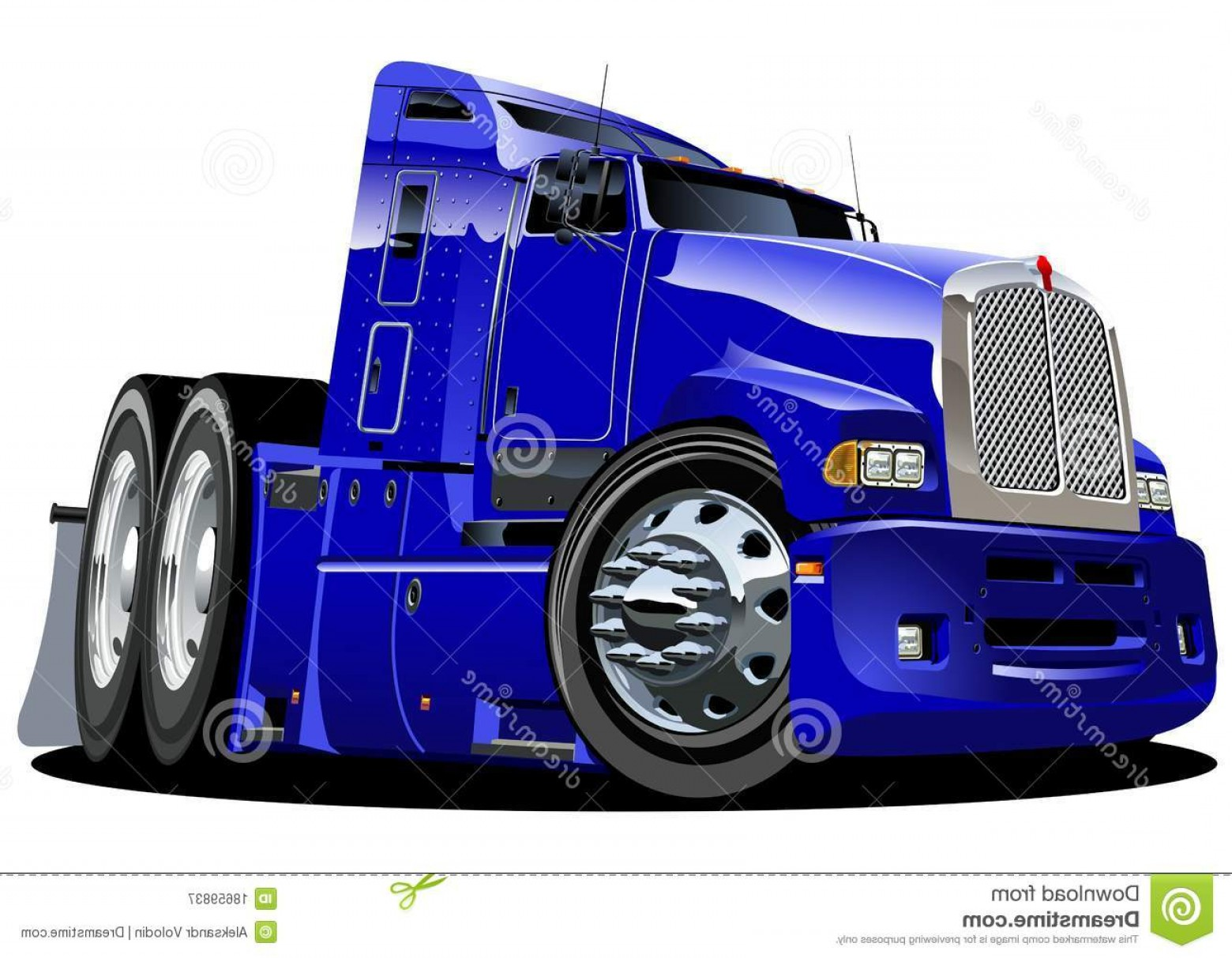 Vector Semi Tanker: Royalty Free Stock Photography Vector Cartoon Semi Truck Image