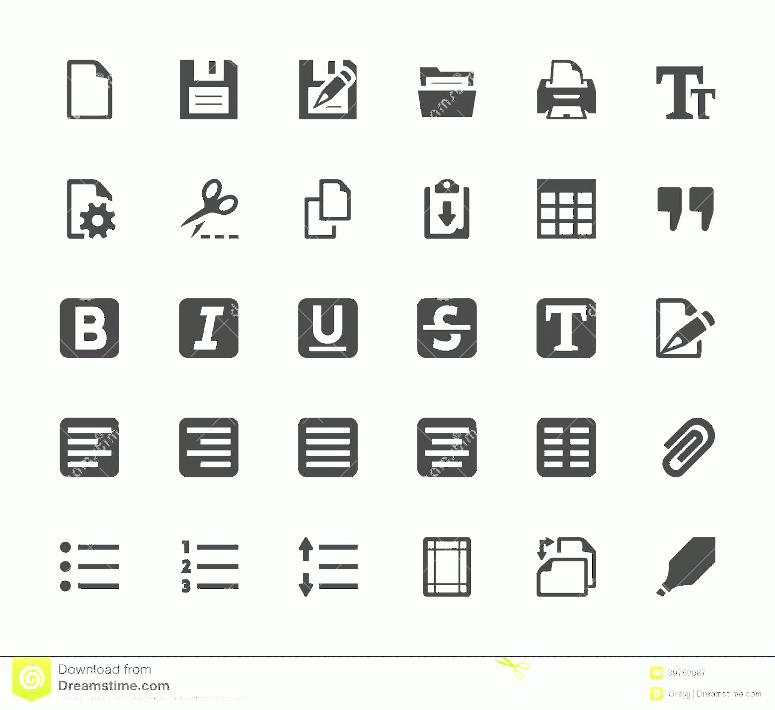 Editors Symbols In Vector: Royalty Free Stock Photography Vector Text Editor Icons Set Mini Image