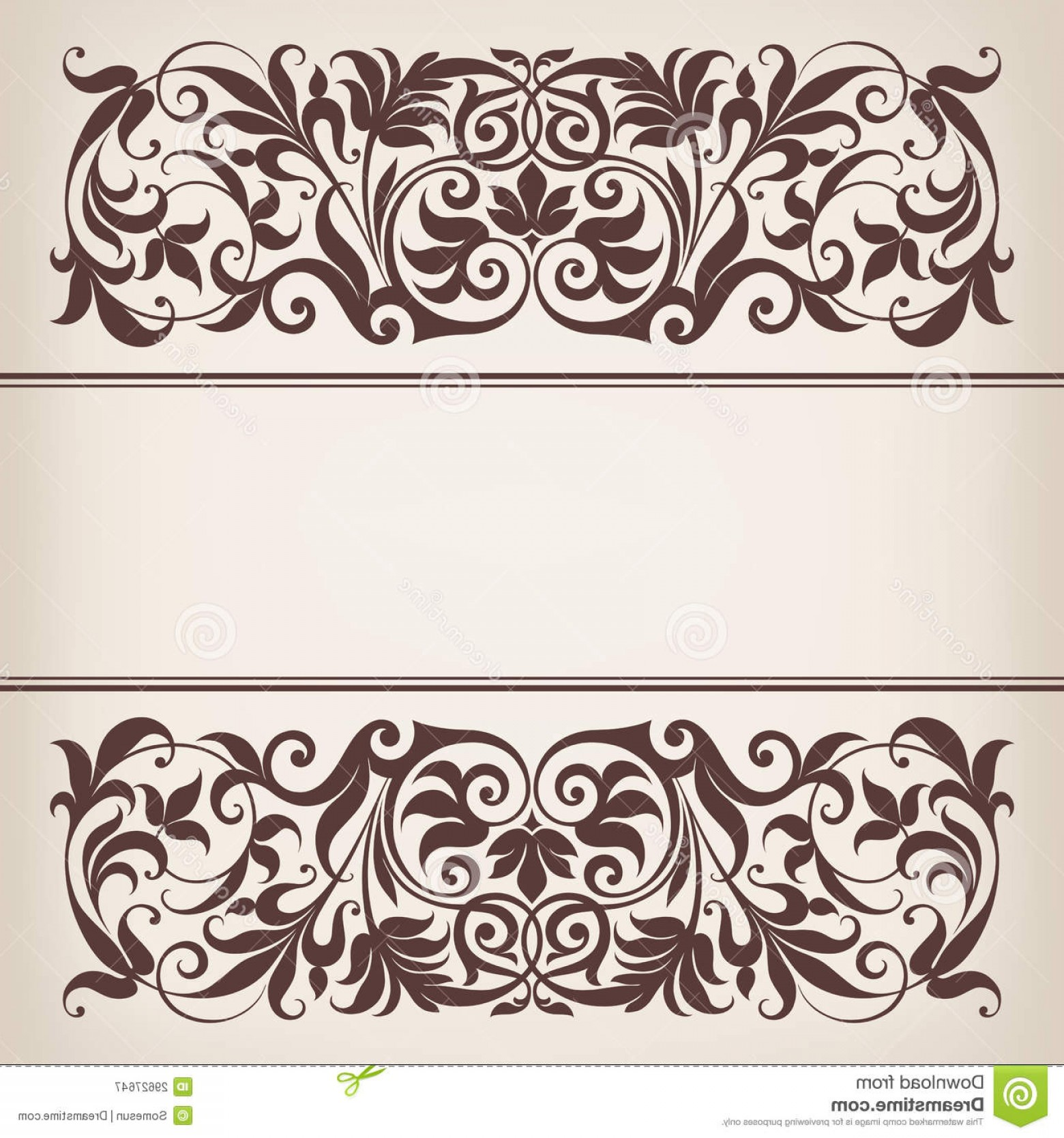 Vector Ornate Vintage Frame Blank: Royalty Free Stock Photography Vintage Border Frame Decorative Ornate Calligraphy Vector Image