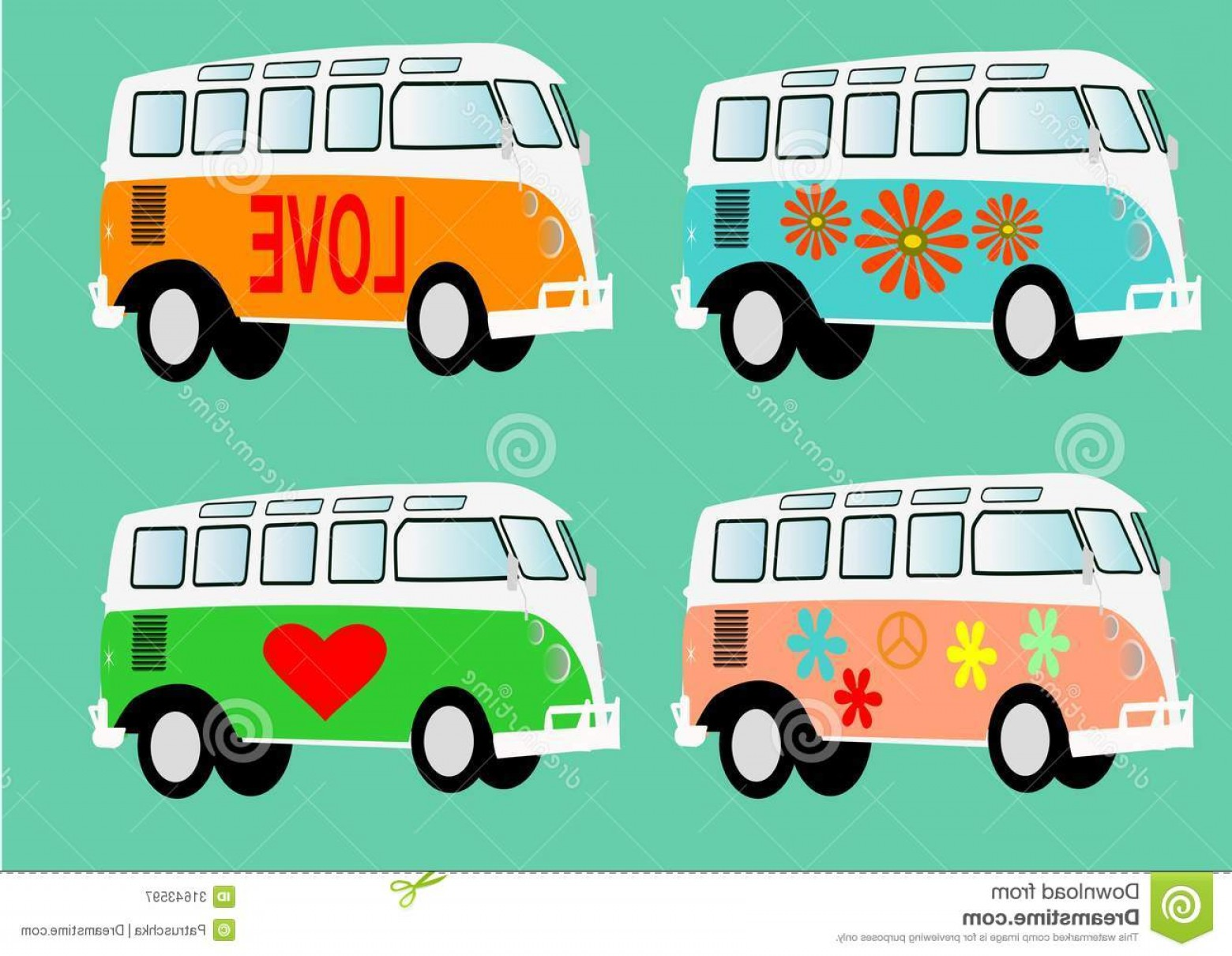 VW Vector Graphic: Royalty Free Stock Photography Volkswagen Camper Vintage T Holiday Hippie Retro Vintage Vector Image