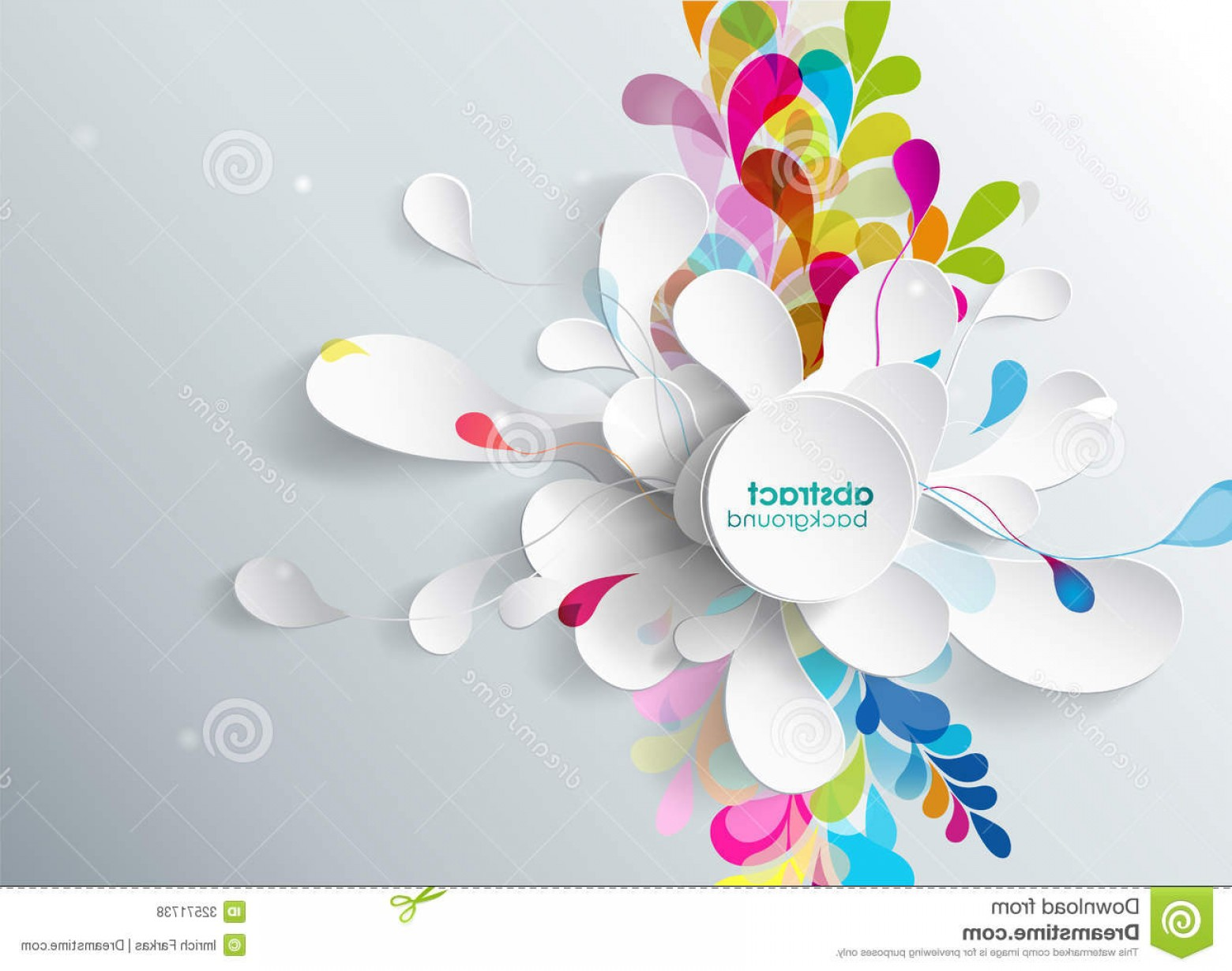 Free Abstract Vector Art: Royalty Free Stock Photos Abstract Background Paper Flower Vector Art Image