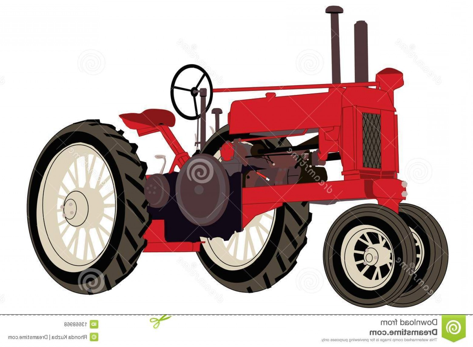 Vintage Tractor Vector Art: Royalty Free Stock Photos Antique Farm Tractor Image