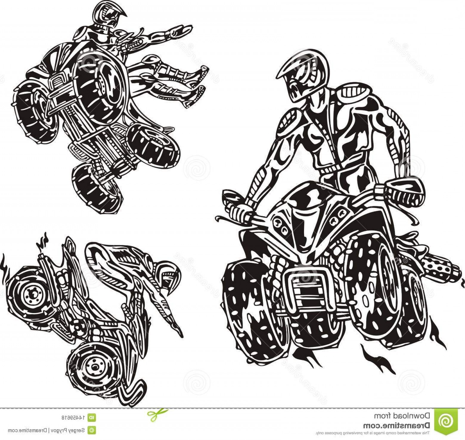 ATV Rider Vector: Royalty Free Stock Photos Atv Riders Image