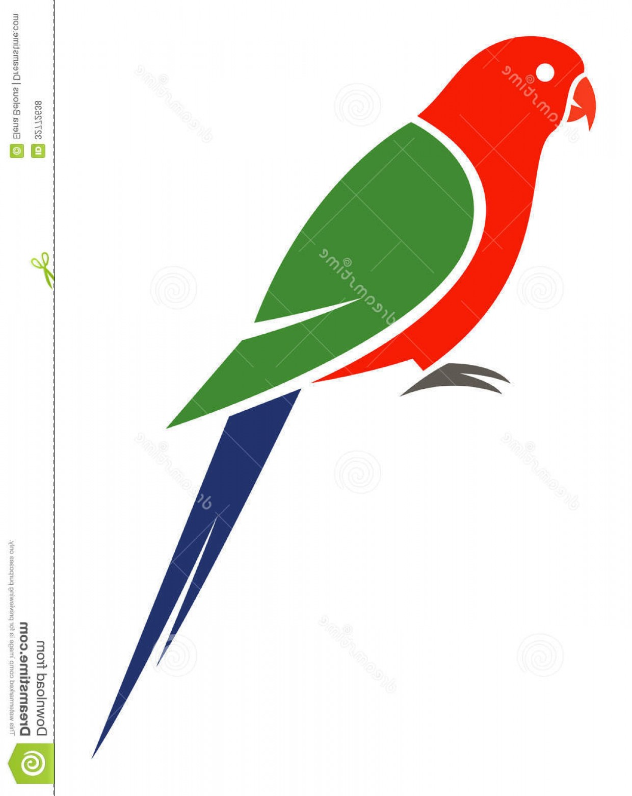 Abstract Vector Art Parrot: Royalty Free Stock Photos Australian King Parrot Stylized Vector Illustration Image