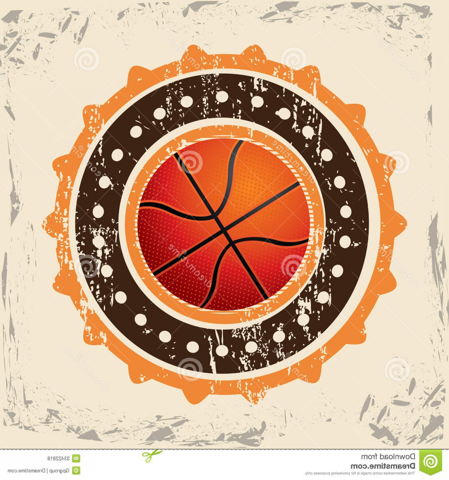 Vintage Basketball Vector: Royalty Free Stock Photos Basketball Design Over Vintage Background Vector Illustration Image