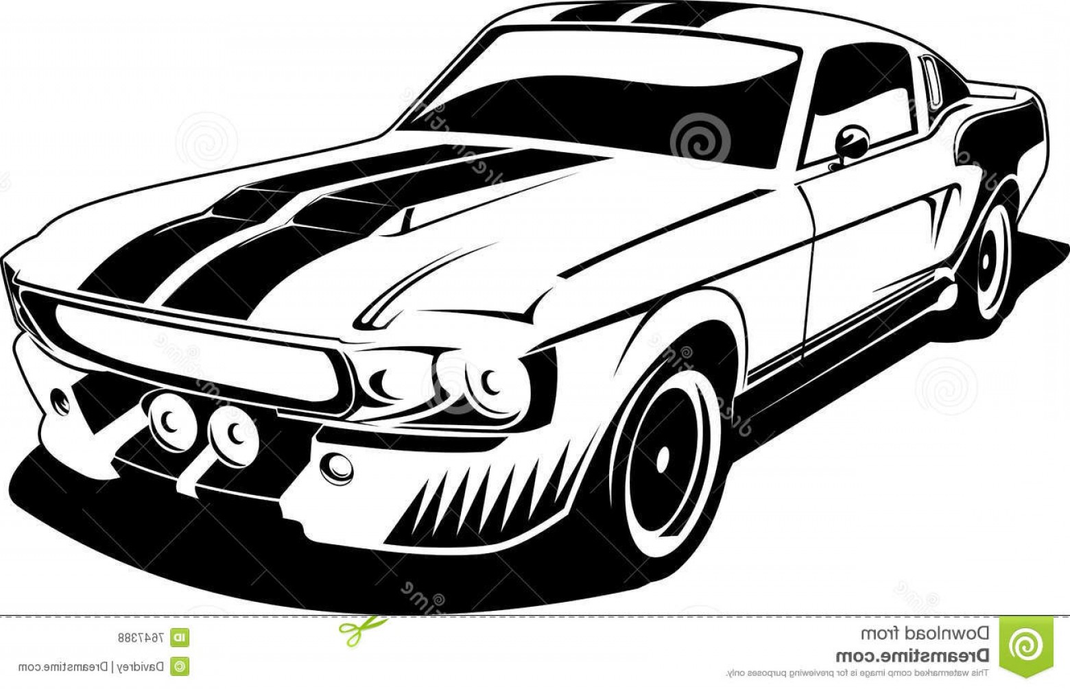 Ford Vector Art: Royalty Free Stock Photos Black White Ford Mustang Image