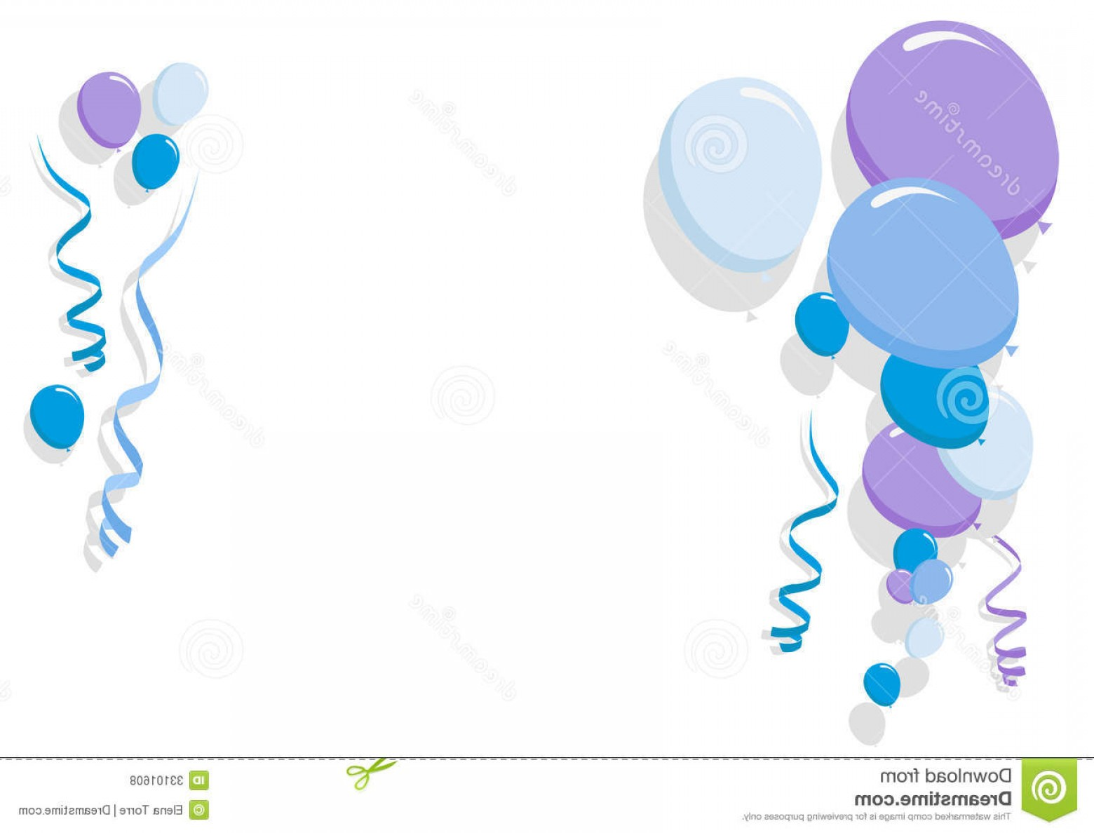 Birthday Card Vector Frame Designs: Royalty Free Stock Photos Blue Balloons Border Boy Frame Illustration Birthday Cards Party Card Image