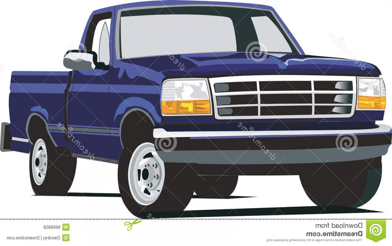 F150 Vector: Royalty Free Stock Photos Blue F Image