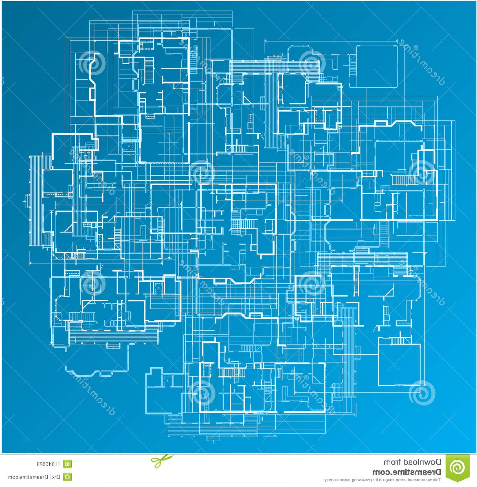 Residential Blueprint Vector Black: Royalty Free Stock Photos Building Blueprint Image
