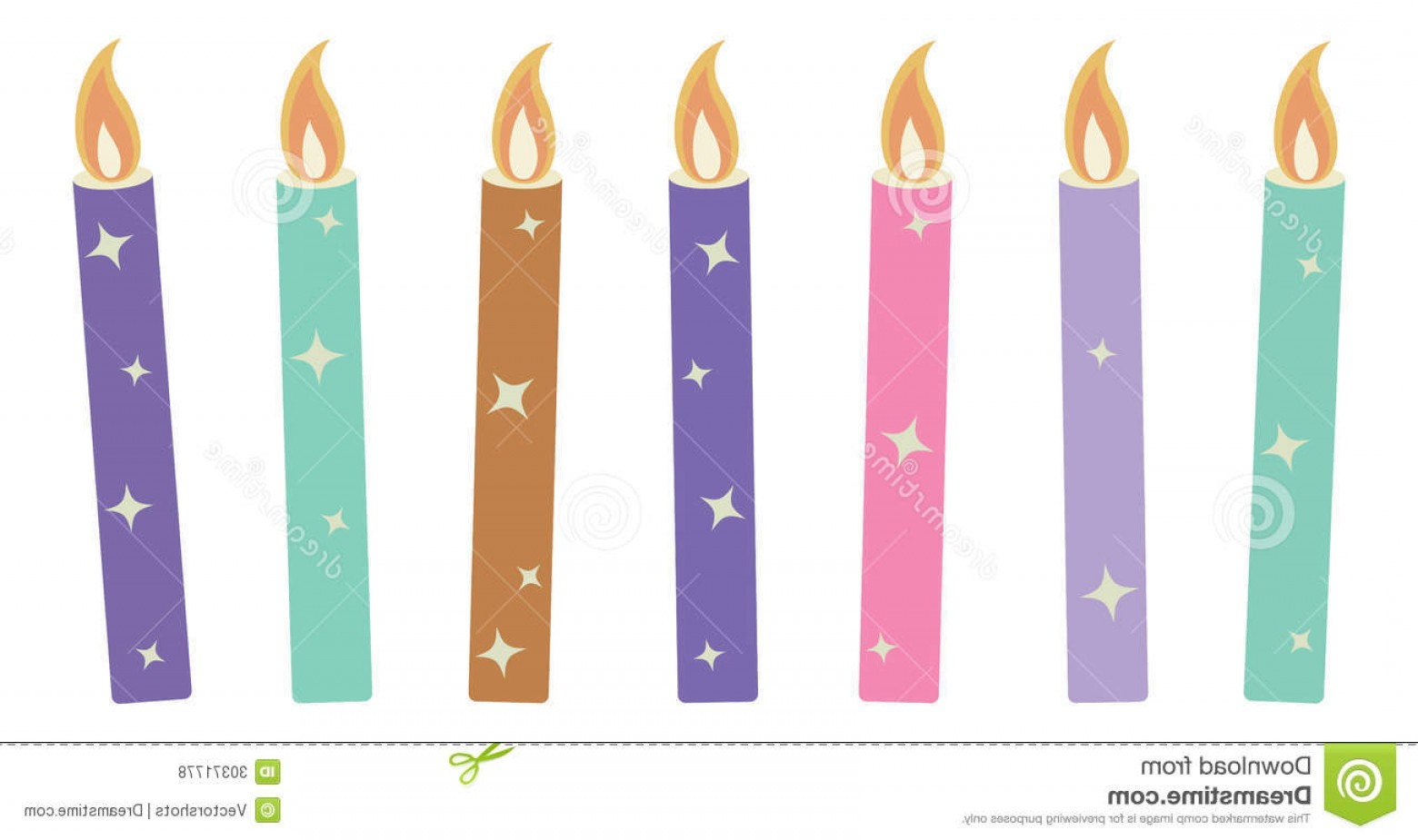 Birthday Candle Vector Art: Royalty Free Stock Photos Candles Christmas Vector Illustration Drawing Art Colorful Birthday Celebration Image