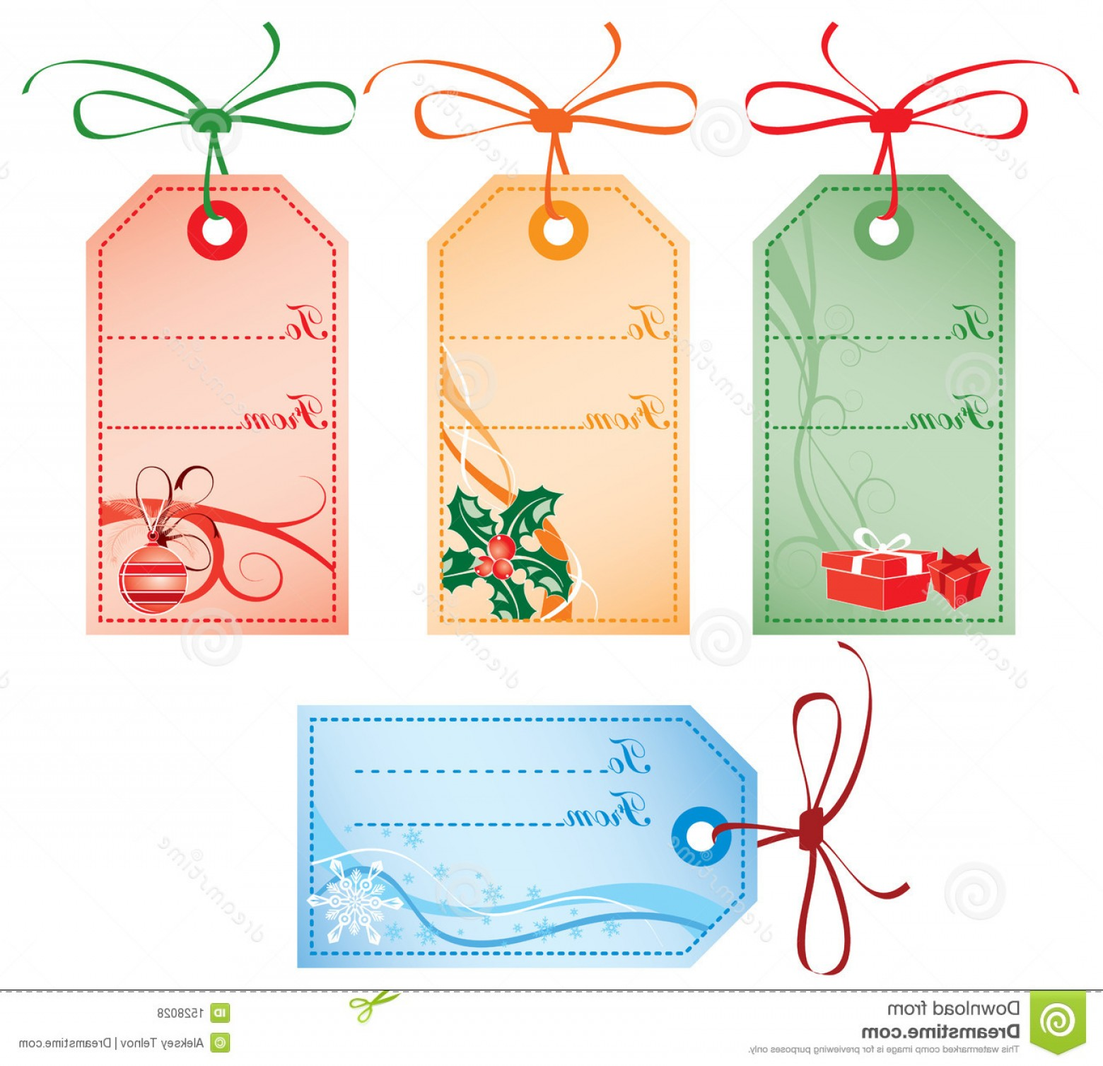 Gift Tags Vector Art: Royalty Free Stock Photos Christmas Gift Tags Vector Image