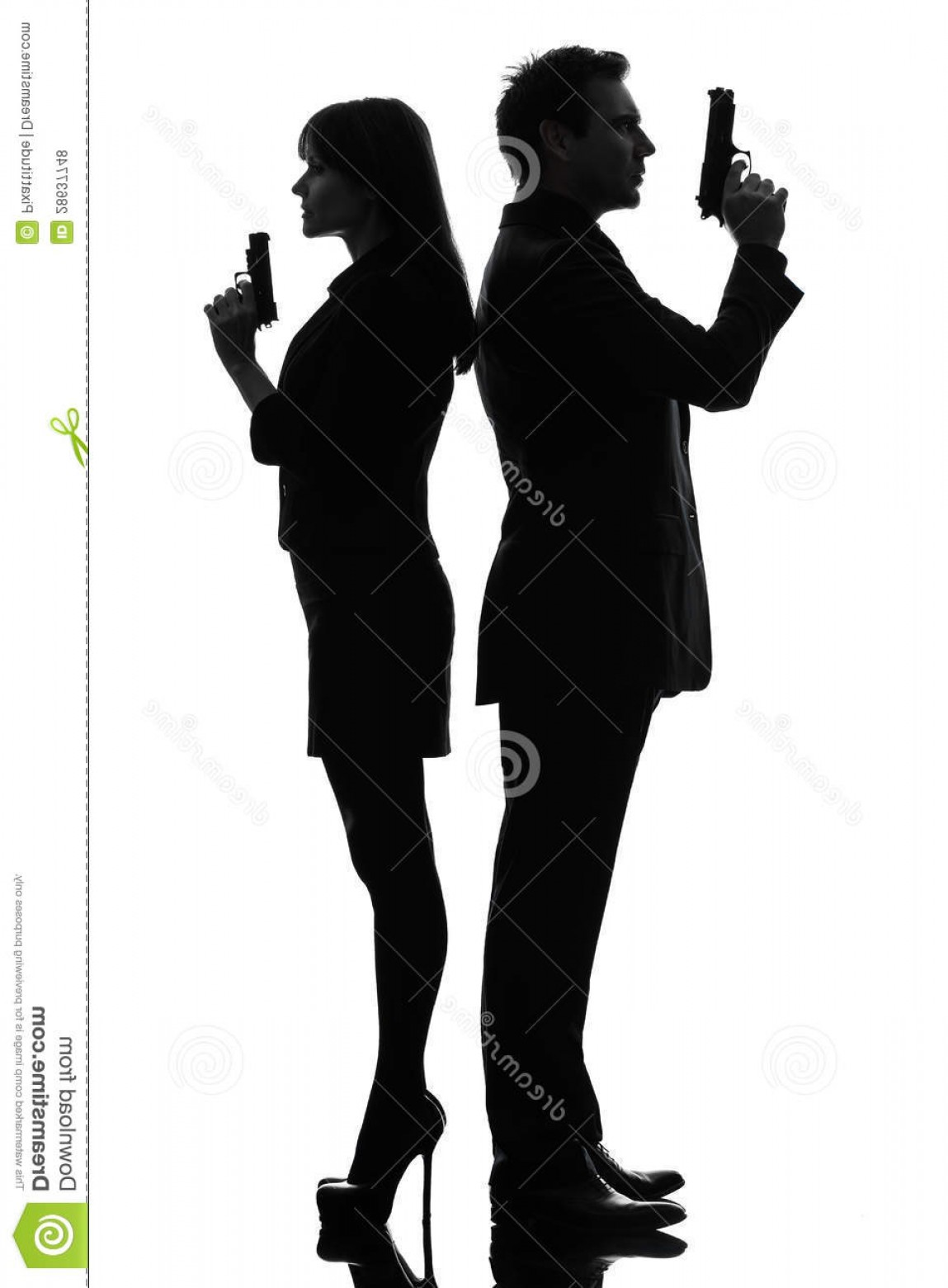 James Bond Silhouette Vector: Royalty Free Stock Photos Couple Woman Man Detective Secret Agent Criminal Silhouette Image