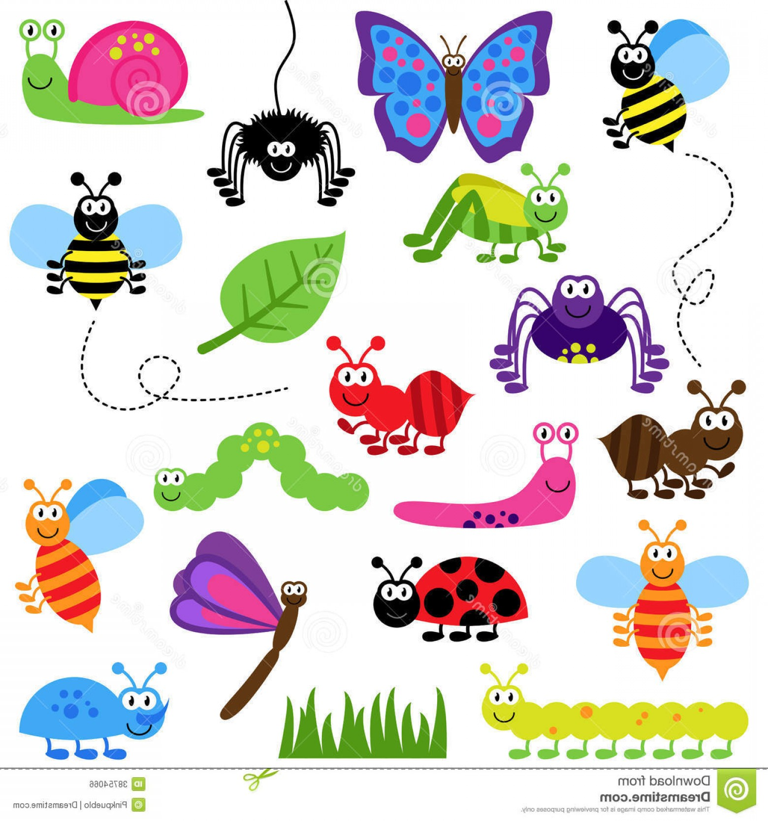 Bug Vector Art: Royalty Free Stock Photos Cute Cartoon Insects Bugs Vector Illustration Icon Image