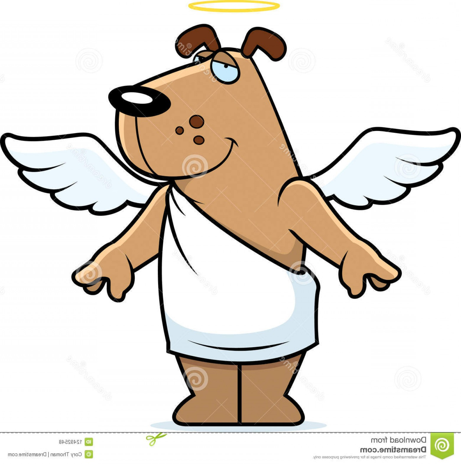 Vector Of Angel Art Dog: Royalty Free Stock Photos Dog Angel Image