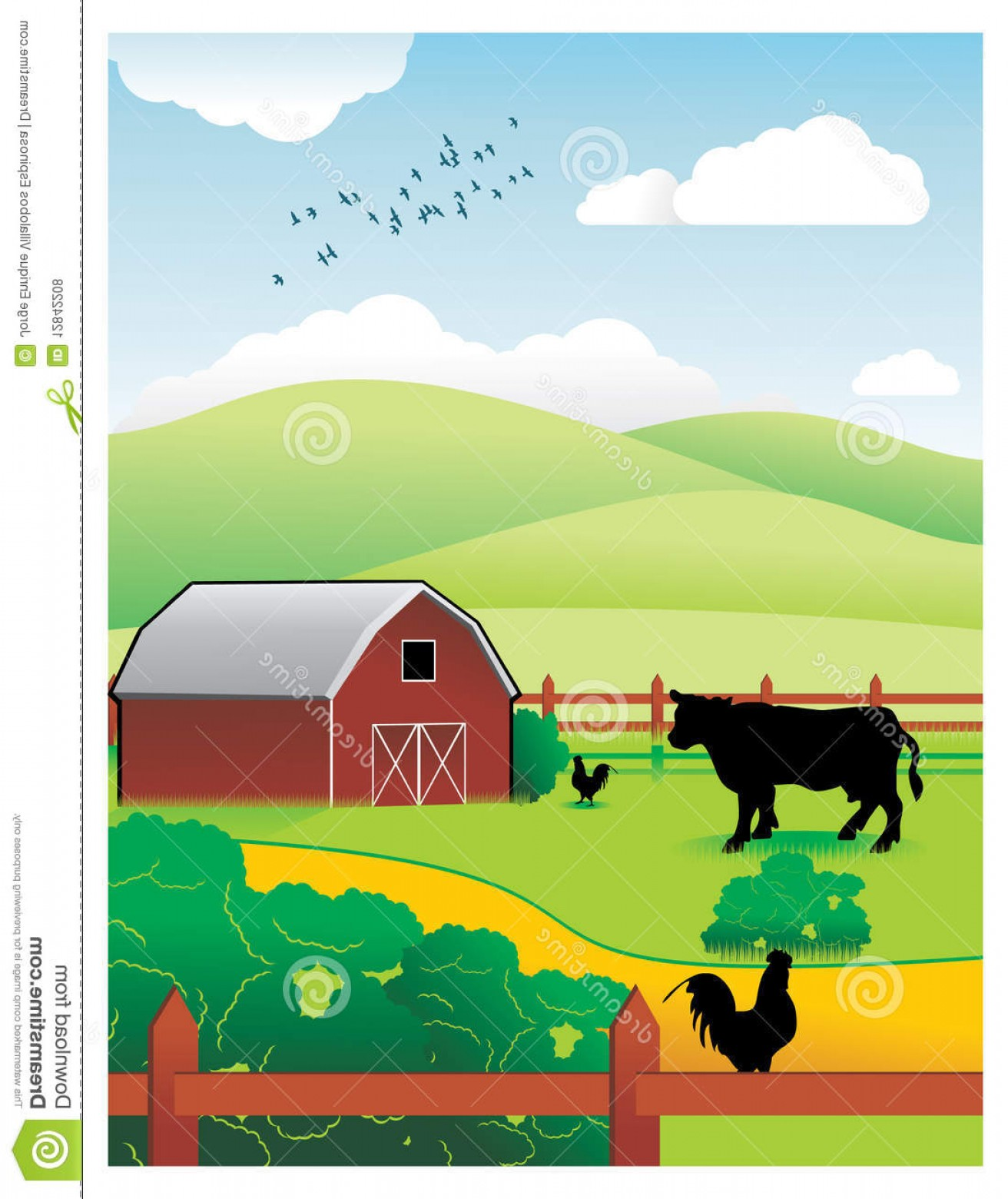 Farm Vector Illustration: Royalty Free Stock Photos Farm Vector Illustration Image