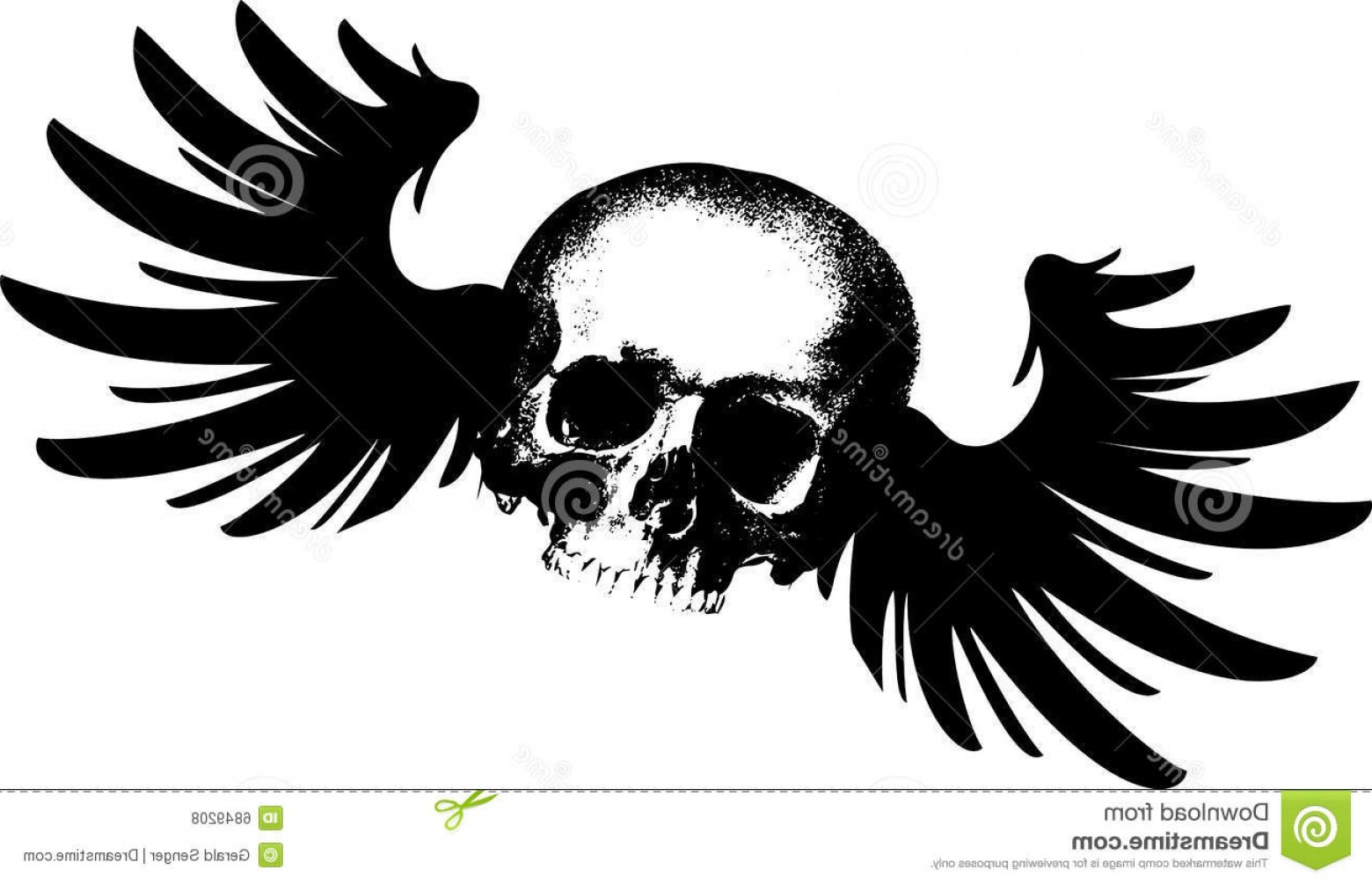 Flying Skull Vector: Royalty Free Stock Photos Flying Skull Image