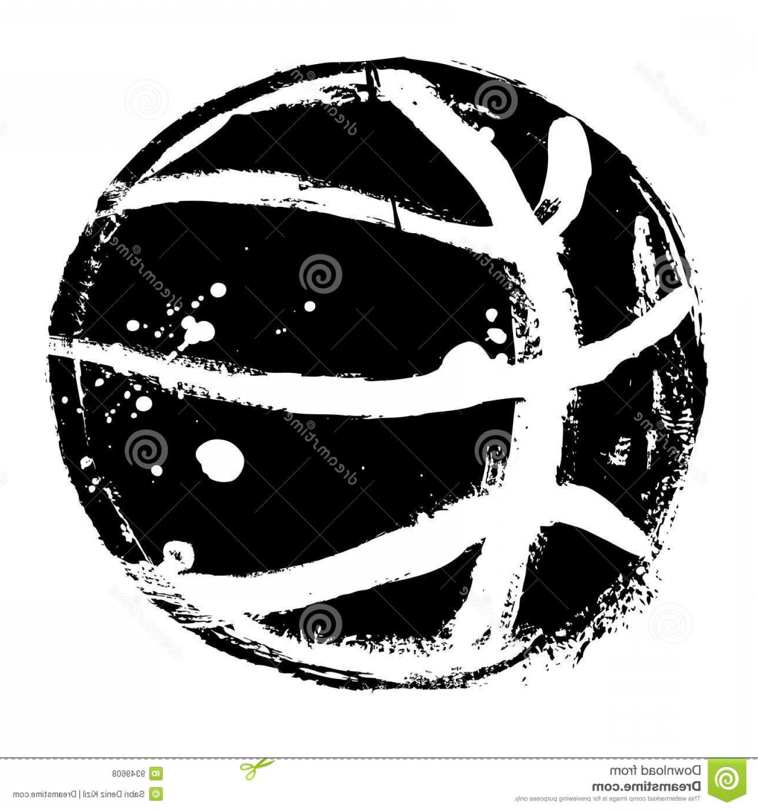 Vintage Basketball Vector: Royalty Free Stock Photos Grunge Basketball Vector Image