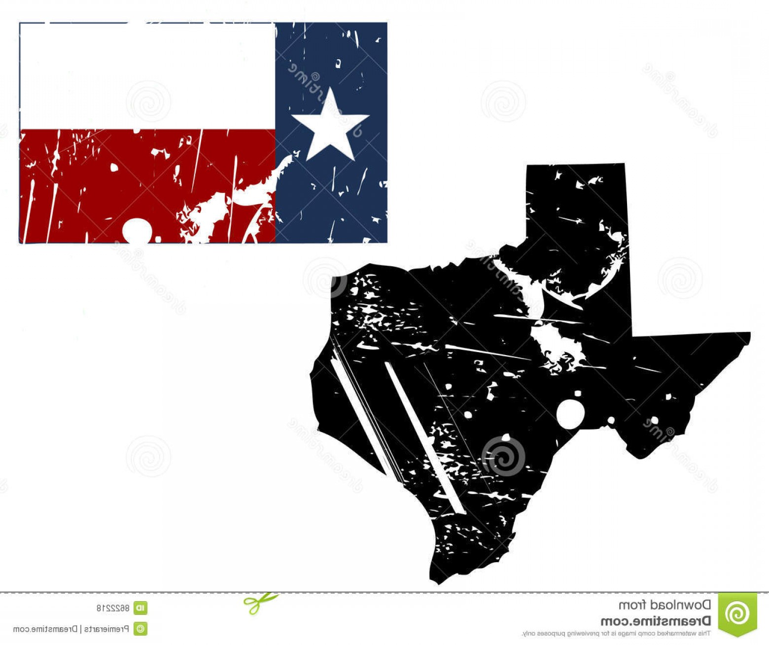 Texas Flag Vector Art: Royalty Free Stock Photos Grunge Texas Map Flag Image