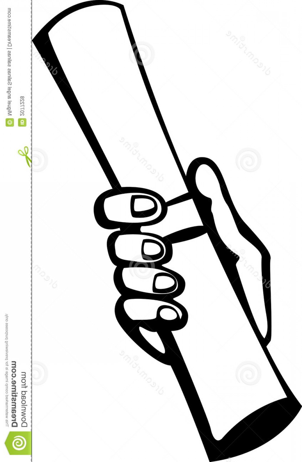 Newspaper Clip Art Vector: Royalty Free Stock Photos Hand Holding Rolled Paper Vector Illustration Image