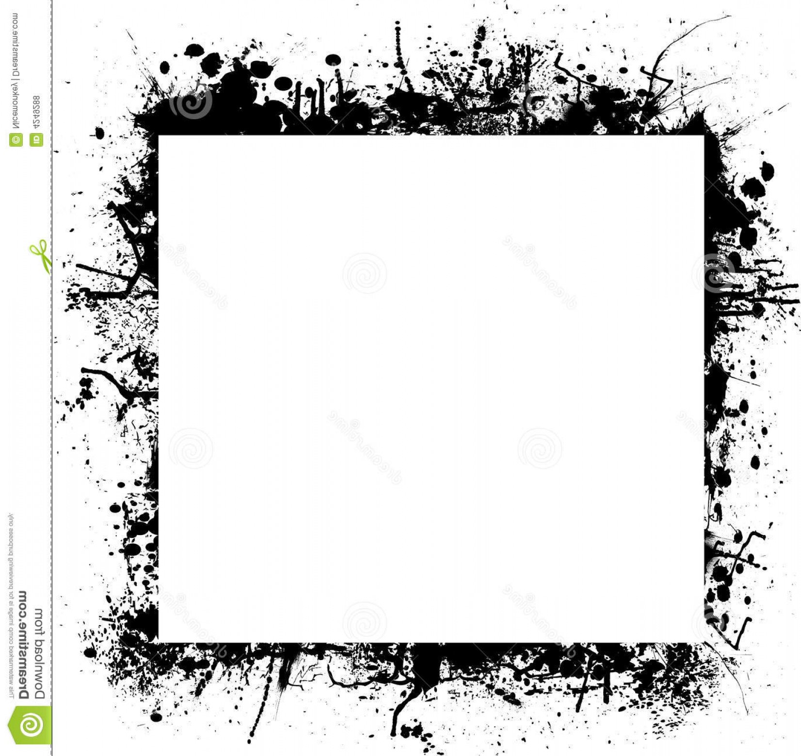 Square Black Vector Border Frame: Royalty Free Stock Photos Ink Splat Border Square Image