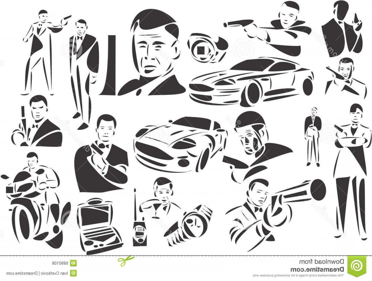 James Bond Silhouette Vector: Royalty Free Stock Photos James Bond Image