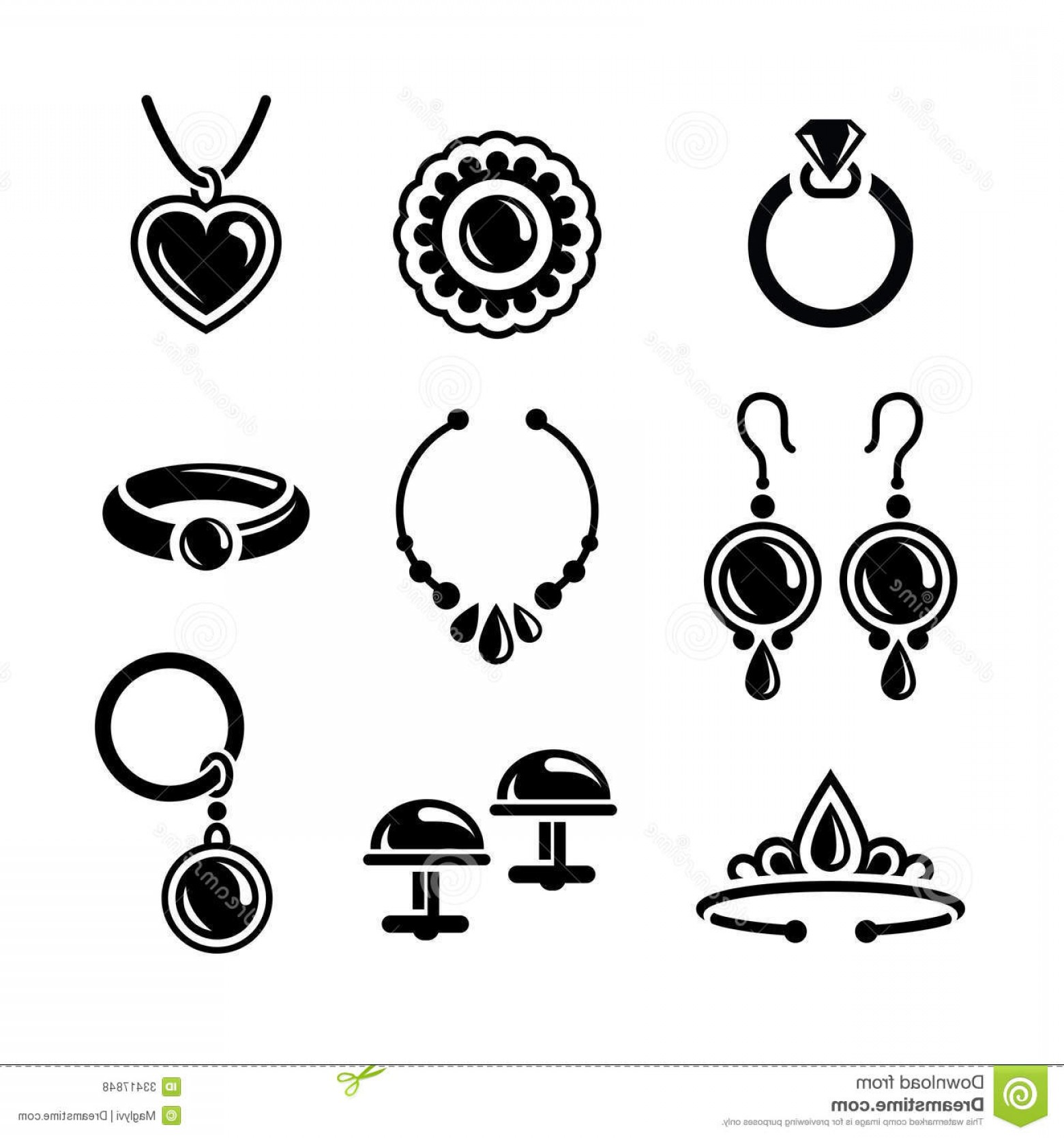 Jewelry Vector Line Art: Royalty Free Stock Photos Jewelry Icons Set Vector Image