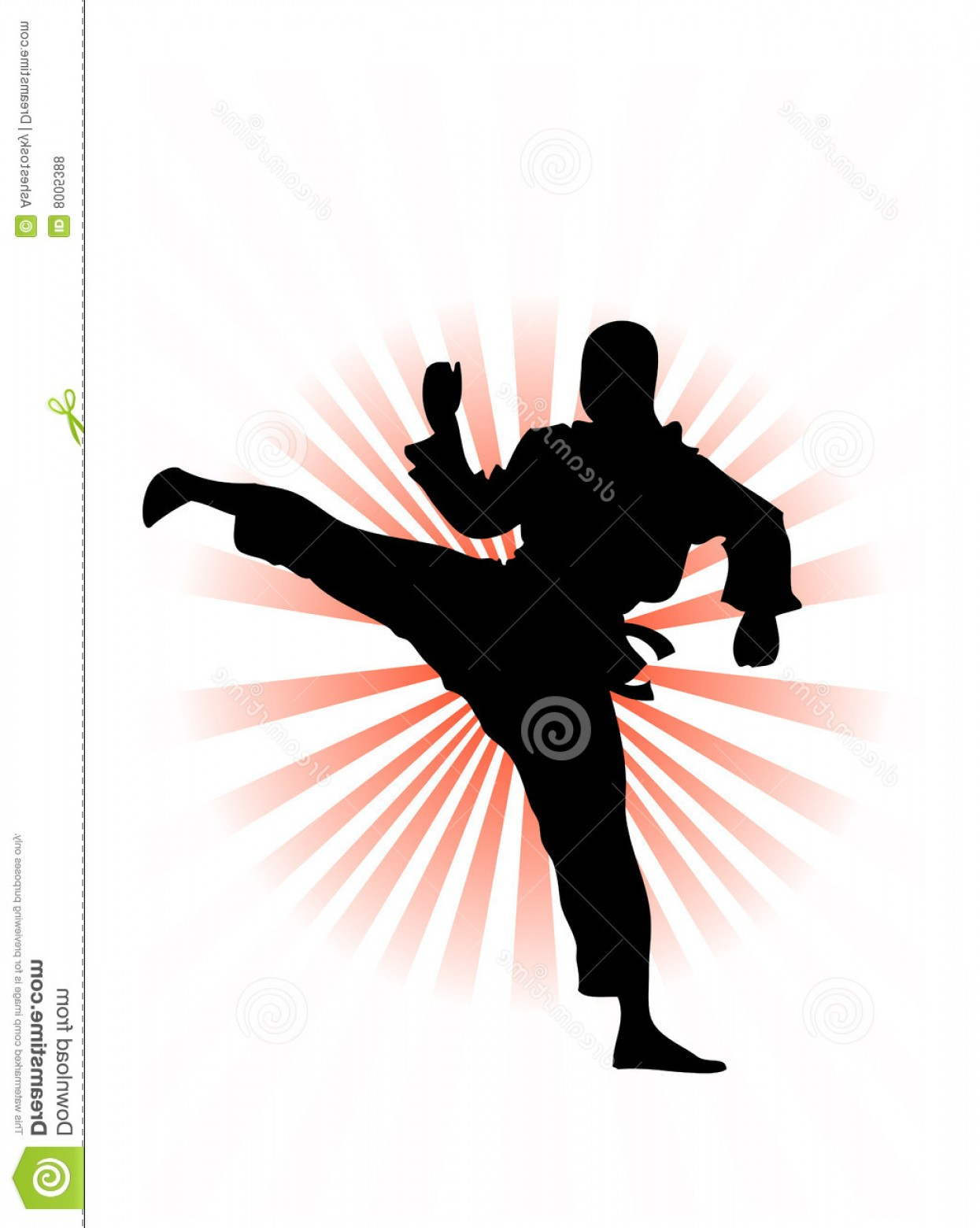 Karate Vector: Royalty Free Stock Photos Korean Karate Fighter Vector Image