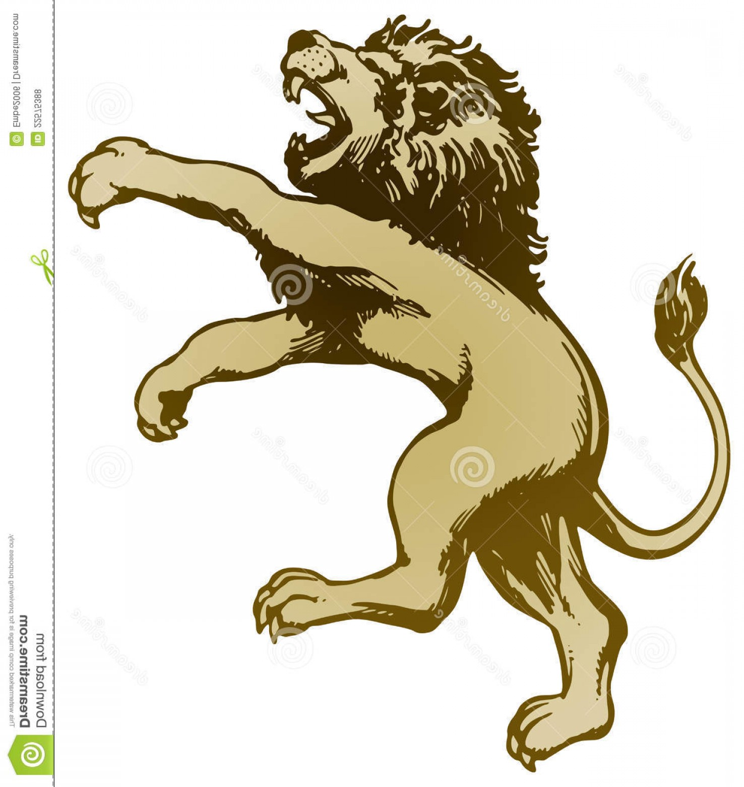Standing Lions Crest Vector: Royalty Free Stock Photos Lion Standing Image