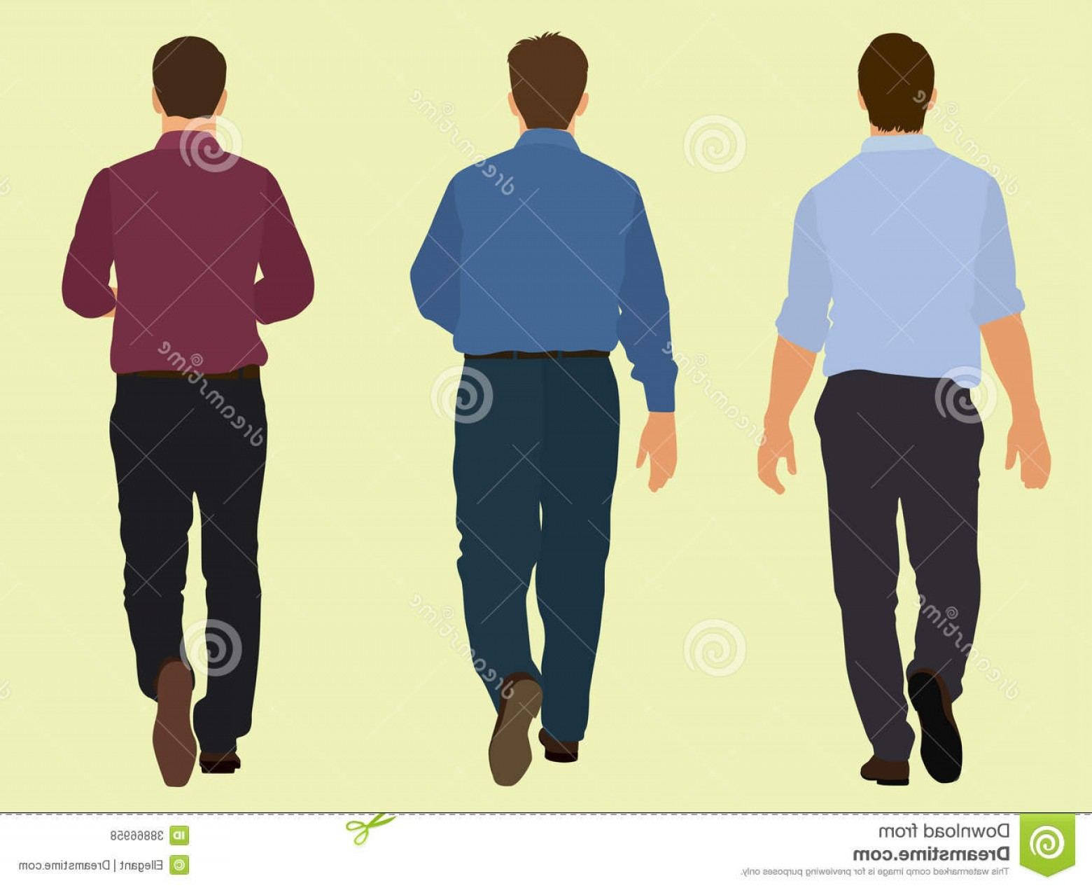 Walking Away Vector: Royalty Free Stock Photos Men Walking Away Wearing Business Suits Image