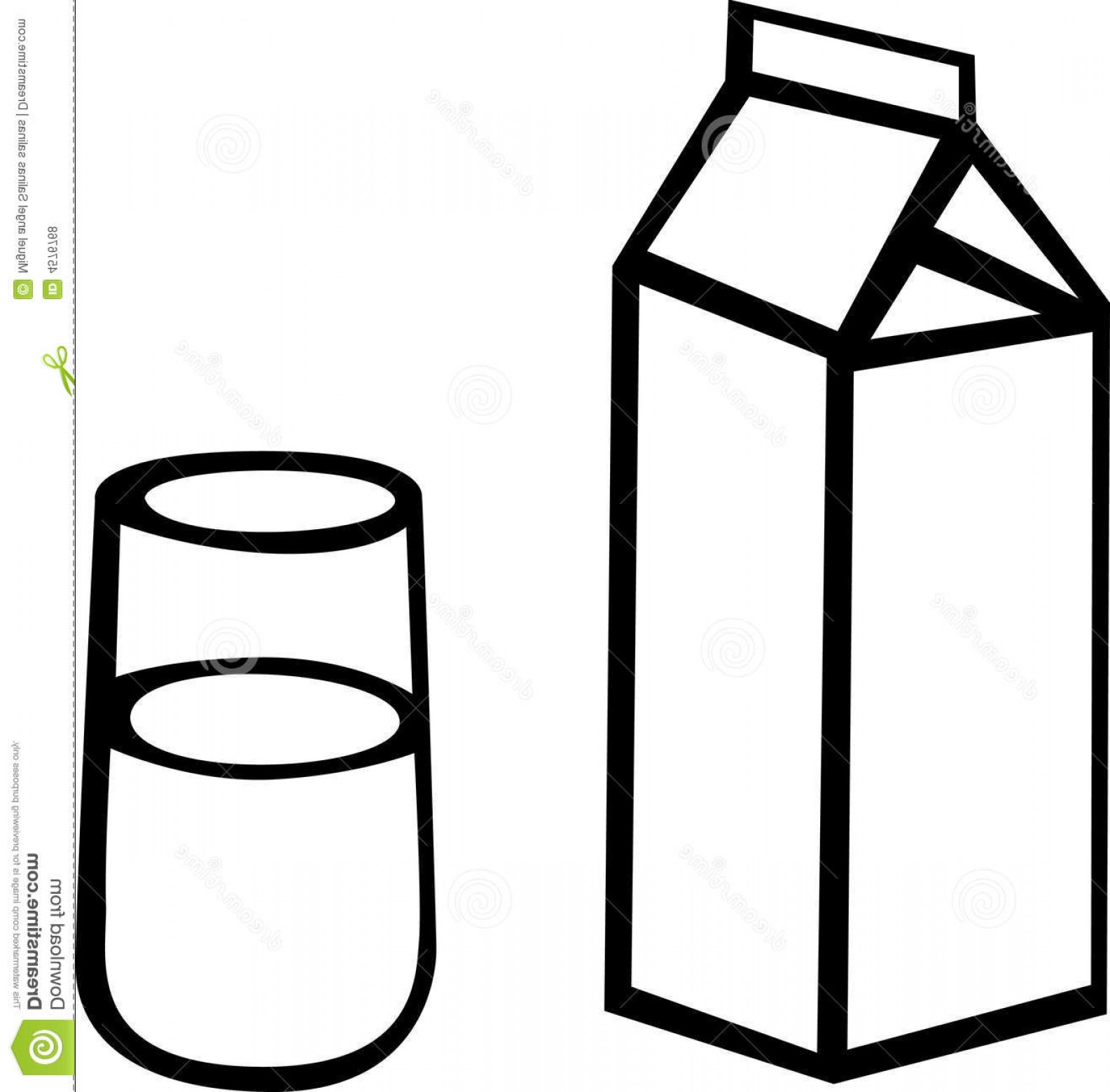 Vector Milk Container: Royalty Free Stock Photos Milk Carton Glass Vector Illustration Image