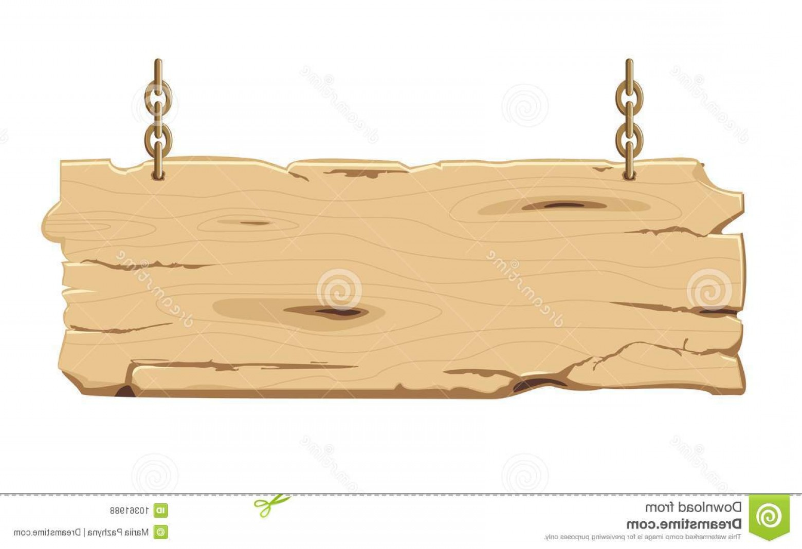 Old Wood Sign Vector: Royalty Free Stock Photos Old Wooden Signpost Chain Image