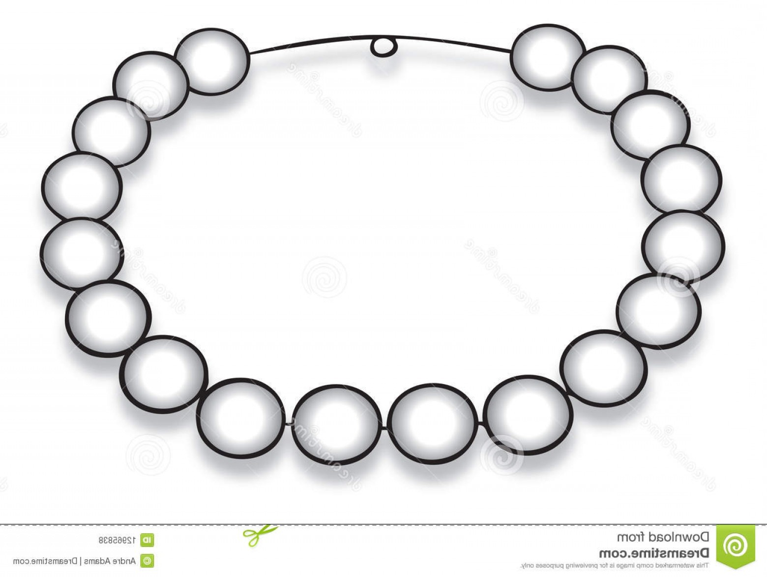 Pearl Necklace Vector Clip Art: Royalty Free Stock Photos Pearl Necklace Image