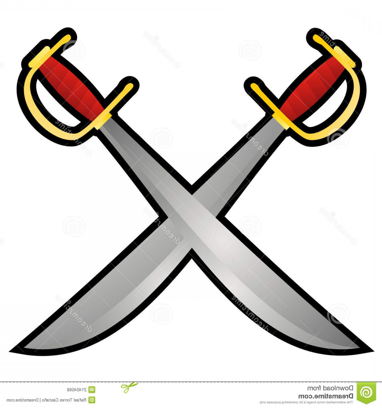 Pirate Swords Crossed Vectors: Royalty Free Stock Photos Pirate Swords Image