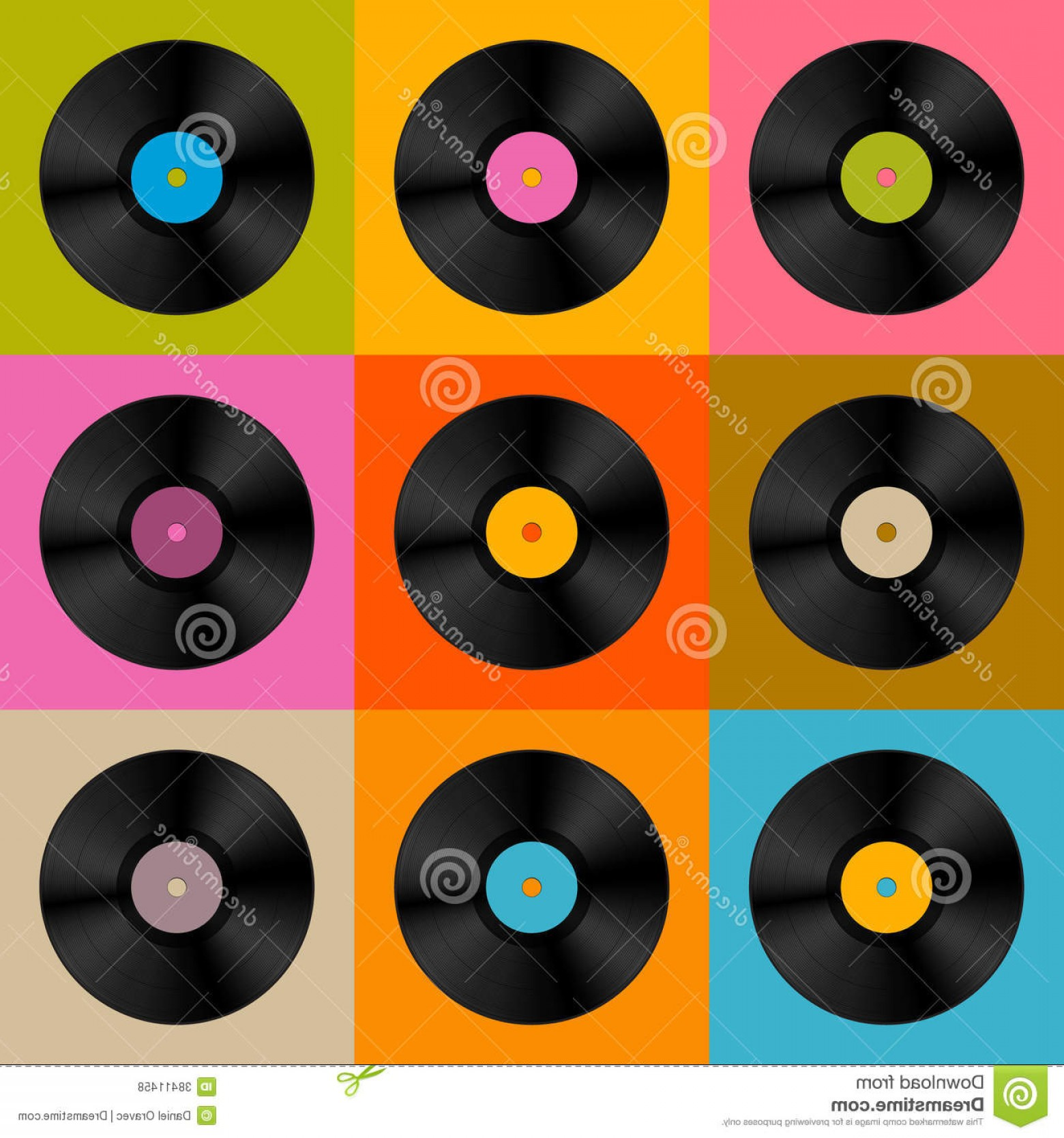 Vinyl Vector Tools: Royalty Free Stock Photos Retro Vintage Vector Vinyl Record Disc Colorful Background Image