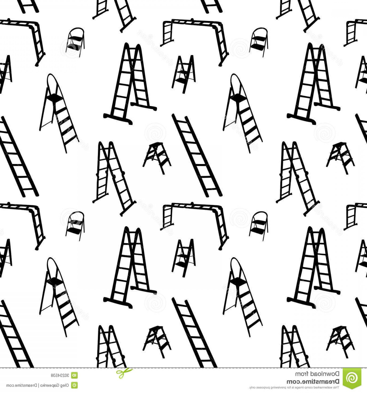 Ladder Silhouette Vector: Royalty Free Stock Photos Seamless Pattern Ladder Silhouette Vector Illustration File Eps Format Image