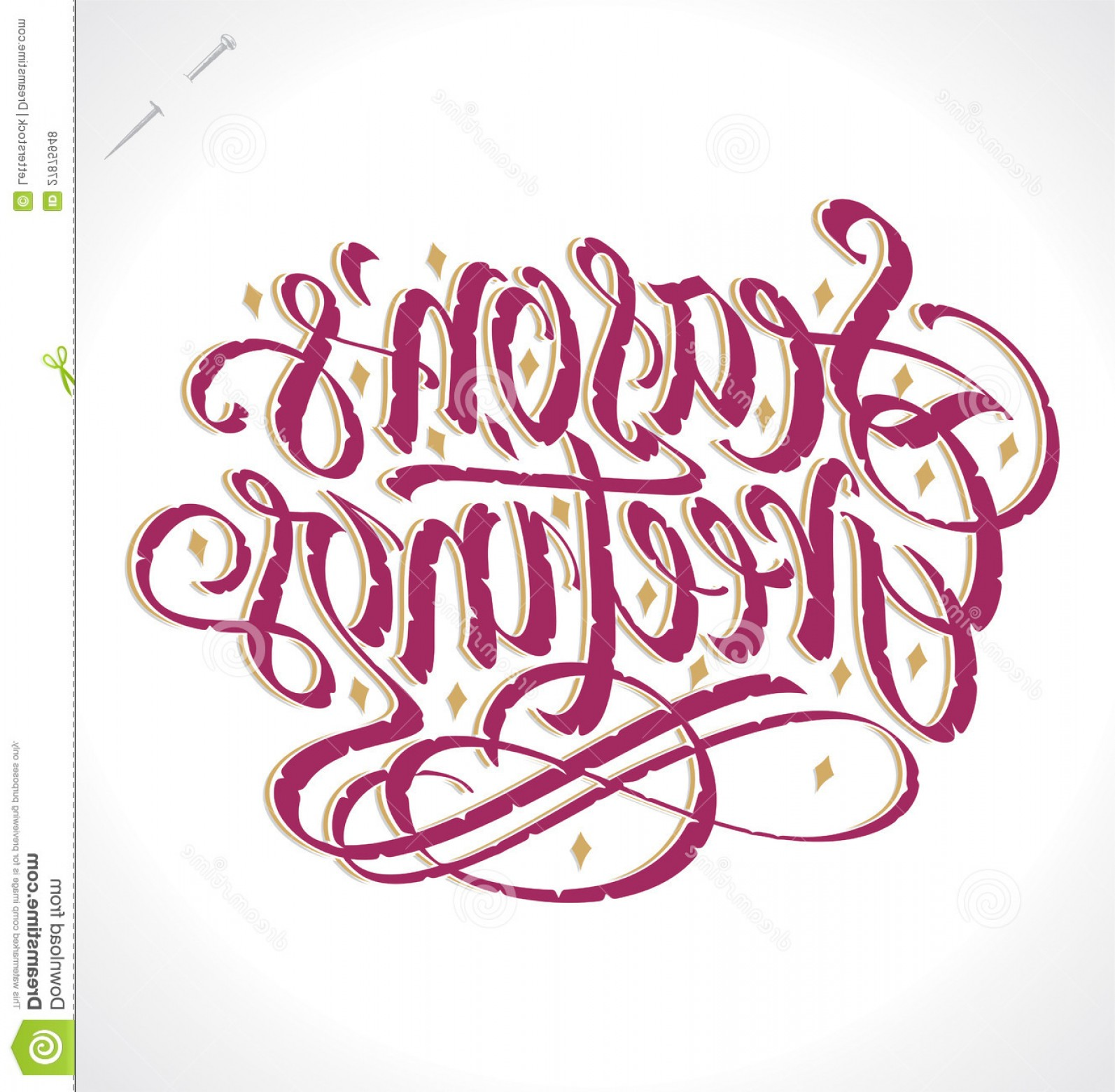 Season S Greetings Vector Free: Royalty Free Stock Photos Seasons Greetings Hand Lettering Vector Image