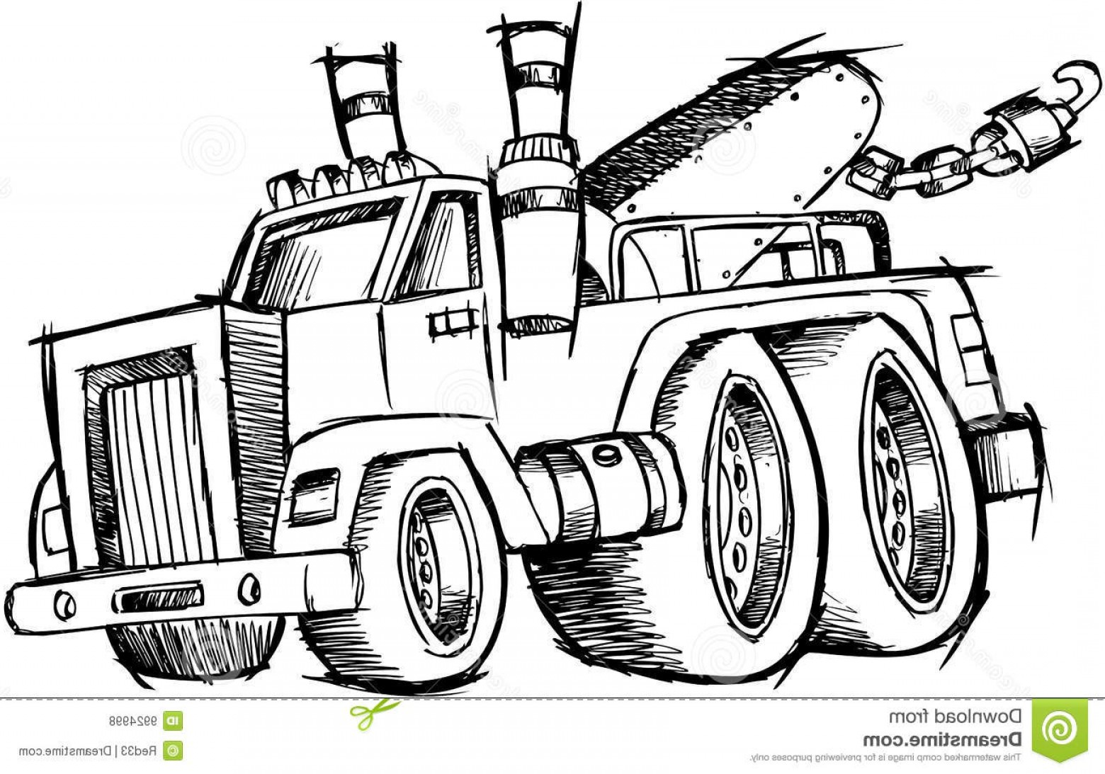 Towing Vector Clip Art: Royalty Free Stock Photos Sketchy Tow Truck Vector Image