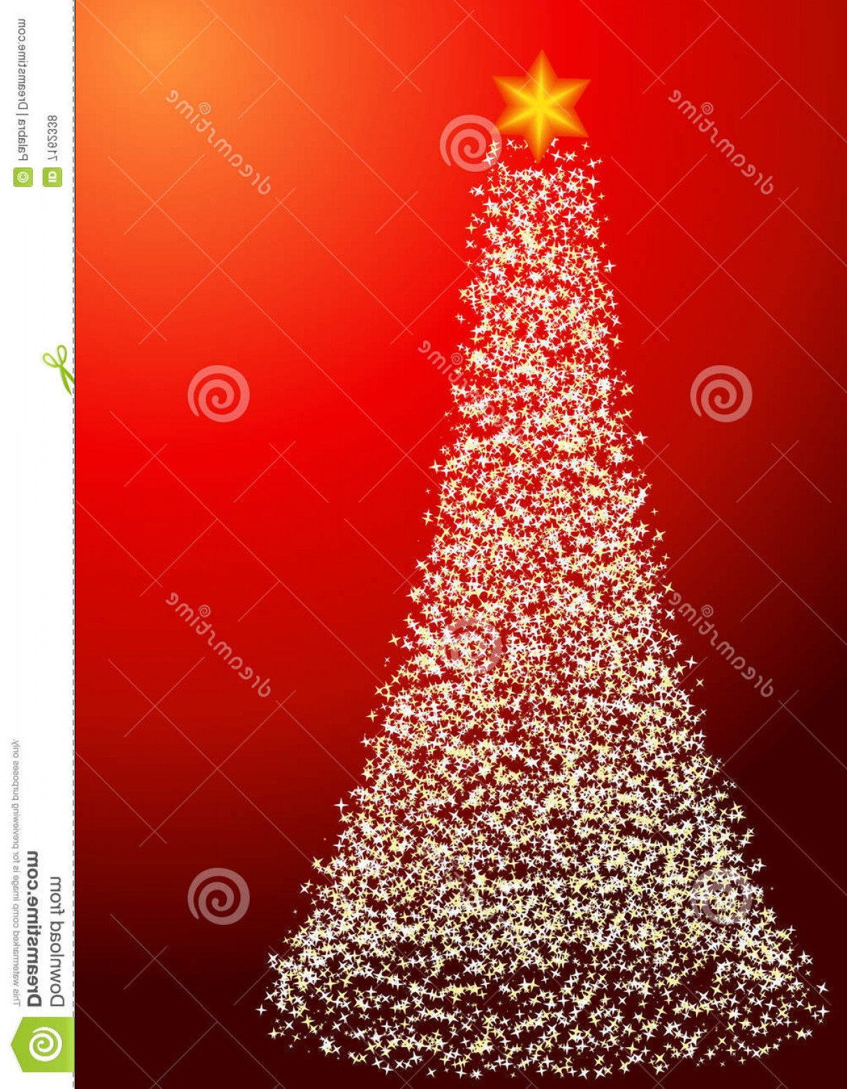 Less Christmas Tree Abstract Vector Background: Royalty Free Stock Photos Starry Christmas Tree Portrait Orientation Image