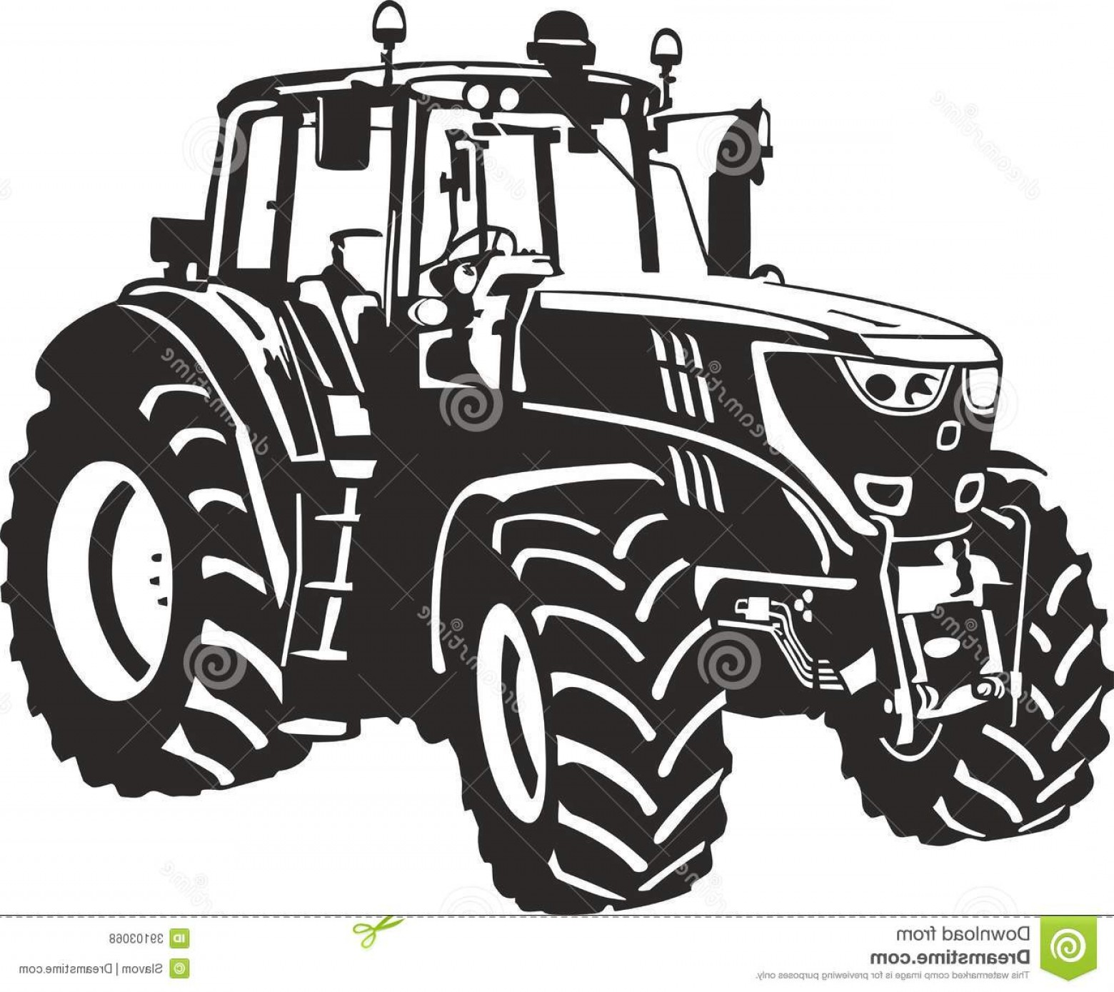 Tractor Silhouette Vector Art: Royalty Free Stock Photos Tractor Vector Illustration Image