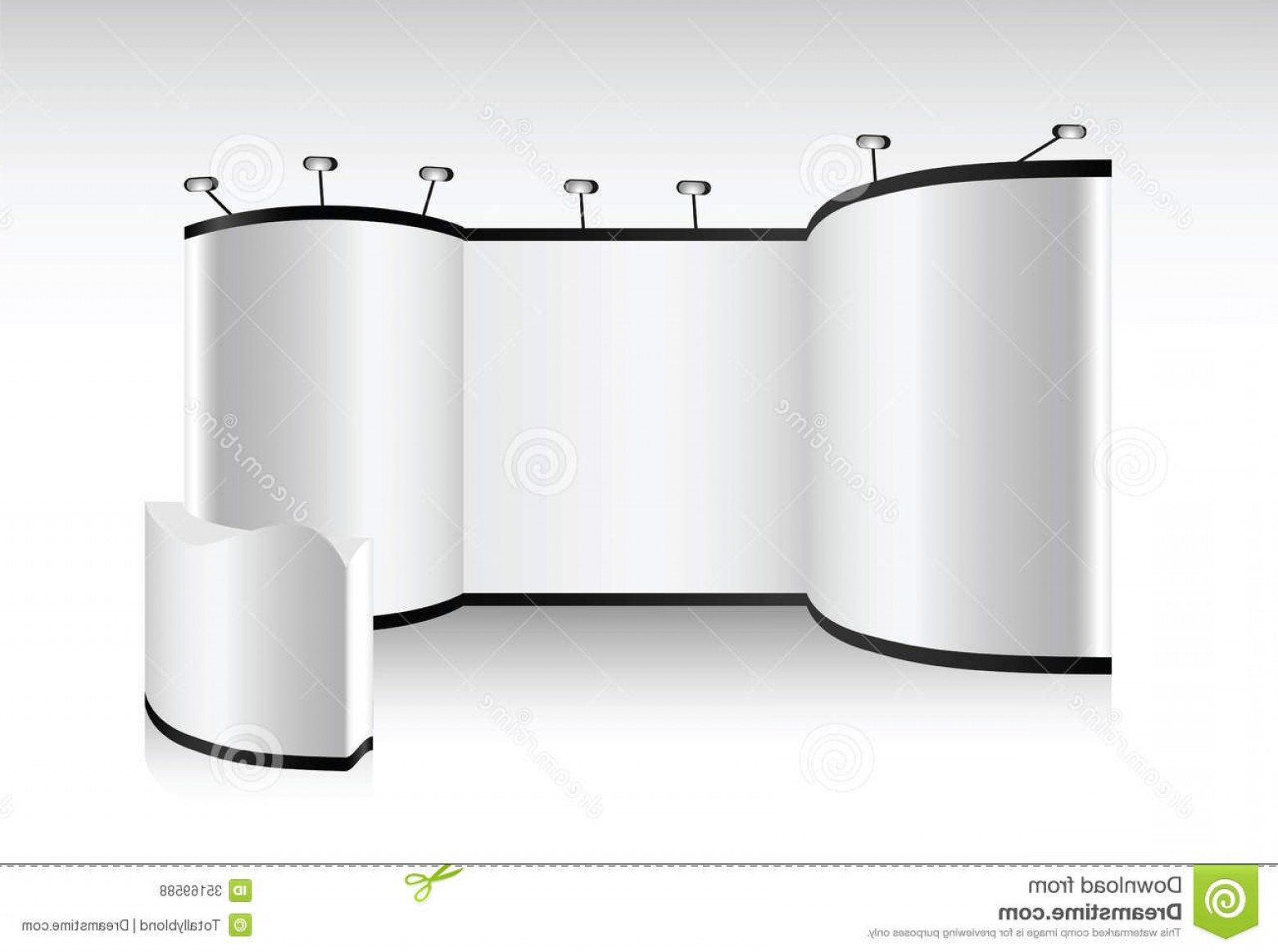 Commercial Booth Vector: Royalty Free Stock Photos Vector Blank Trade Show Booth Designers Advertising Image