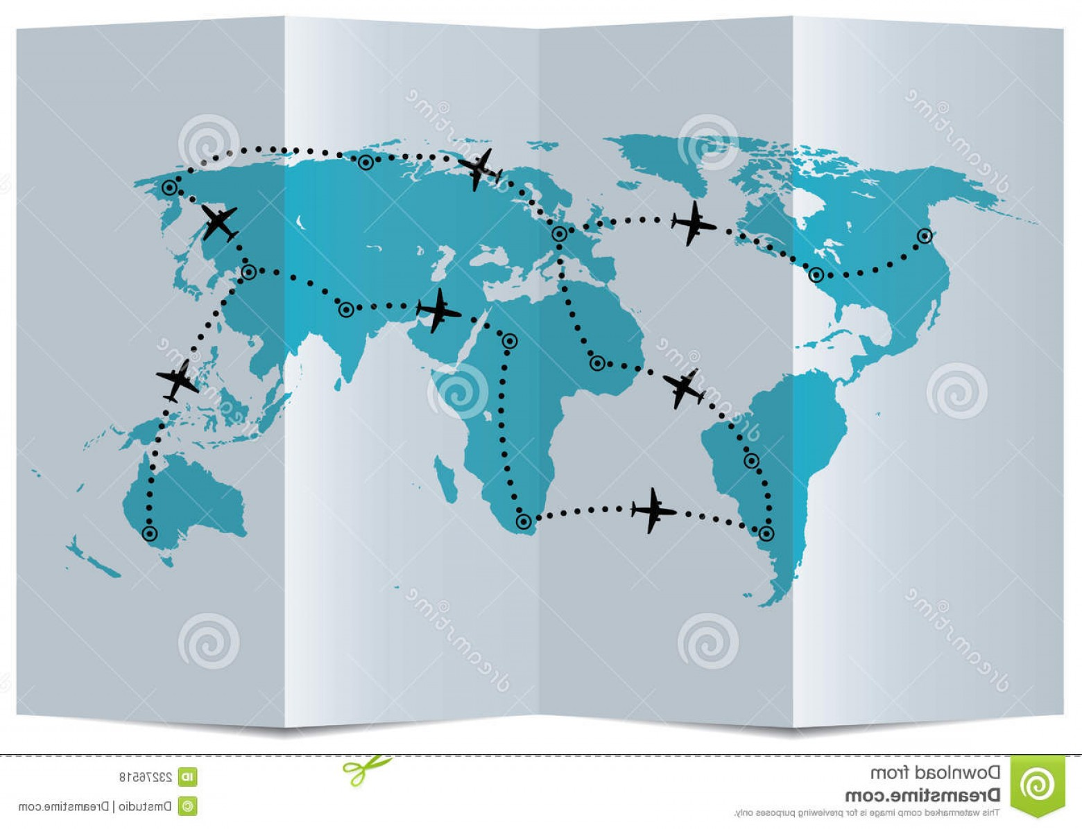 FLIR Flight Path Vector: Royalty Free Stock Photos Vector Map Airplane Flight Paths Image