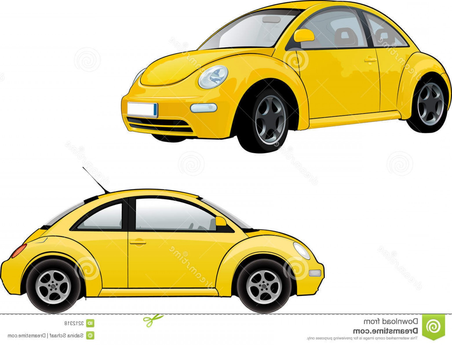 VW Vector Graphic: Royalty Free Stock Photos Volkswagen New Beetle Image