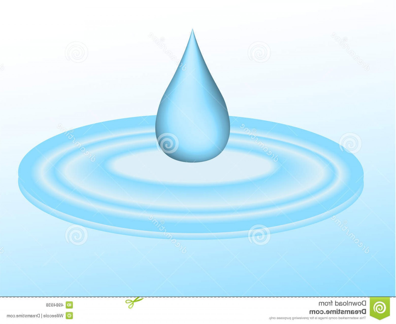 Puddle Of Water Vector: Royalty Free Stock Photos Water Drip Puddle Image