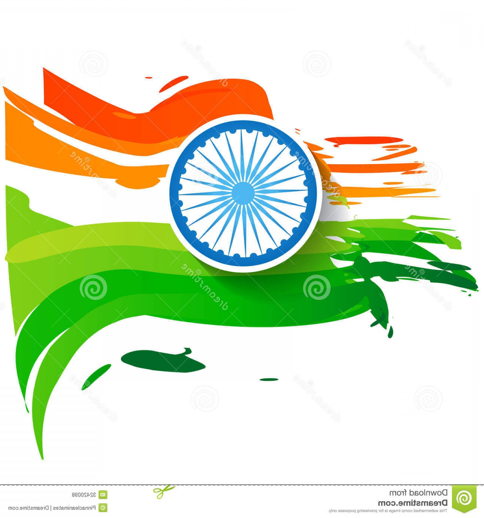 India Flag Vector: Royalty Free Stock Photos Wave Style Indian Flag Stylish Vector Design Image