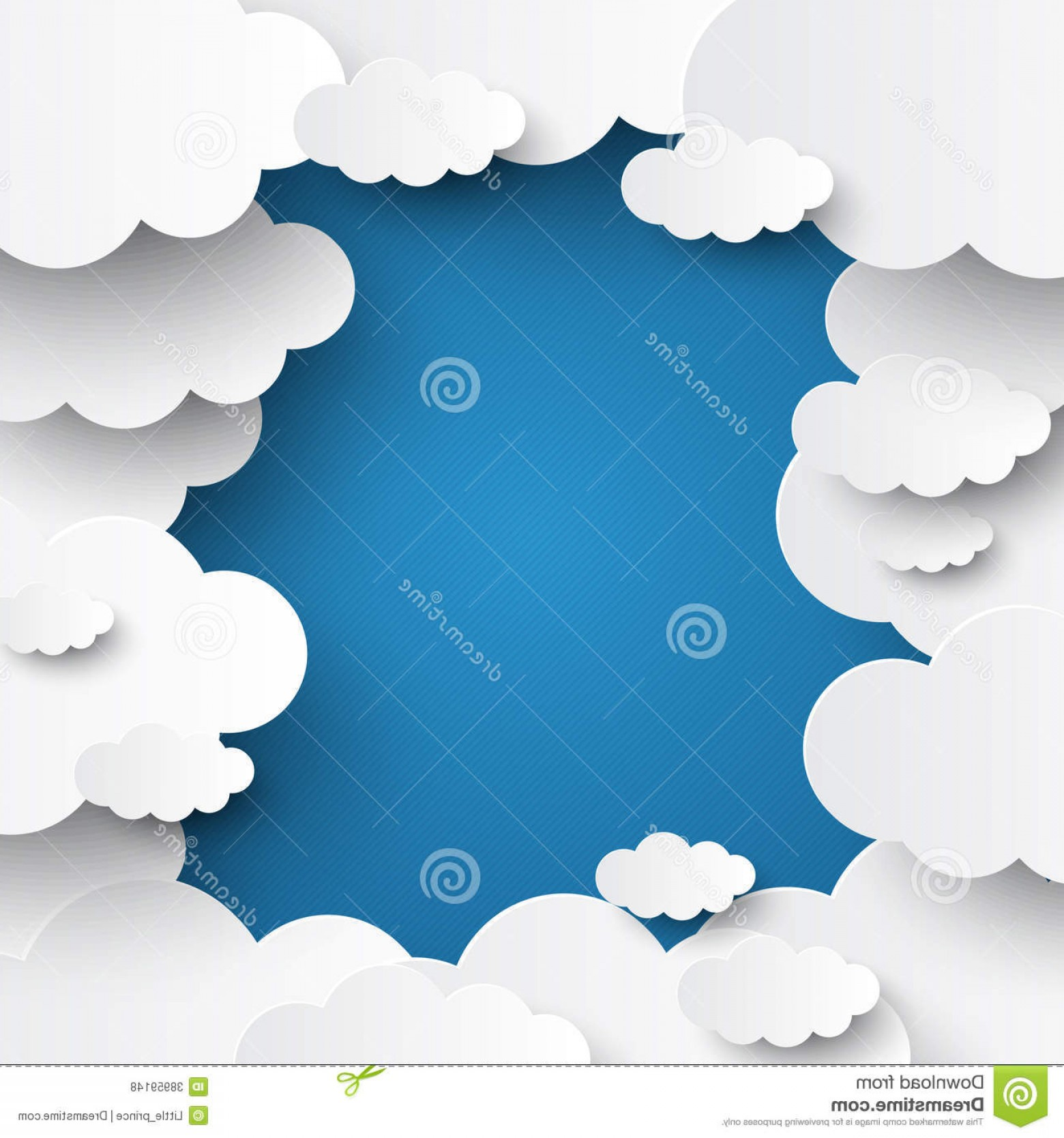 Clouds Backgrounds Vector: Royalty Free Stock Photos White Clouds Blue Sky Background Template Image