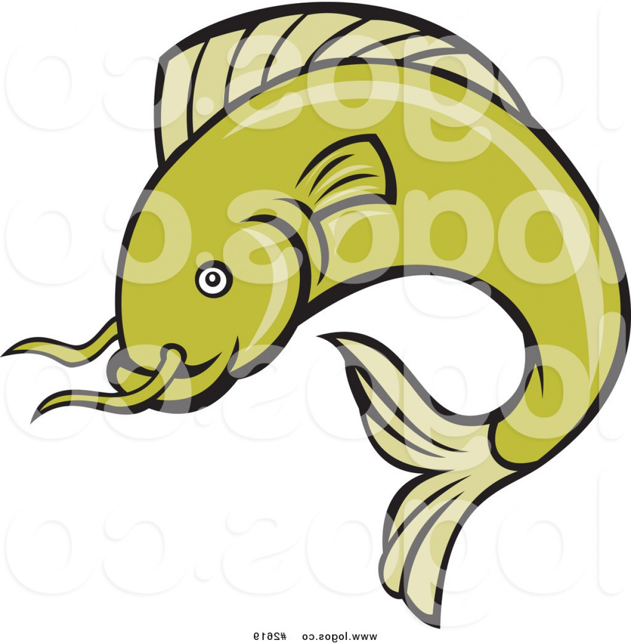 Catfish Vector Logo: Royalty Free Vector Catfish Logo By Patrimonio