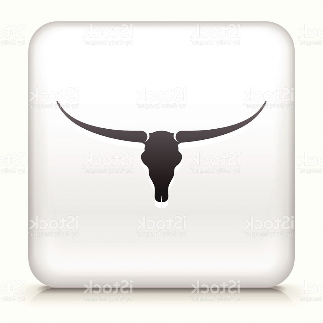 Longhorn Skull Vector: Royalty Free Vector Icon Button With Bull Skull Icon Gm