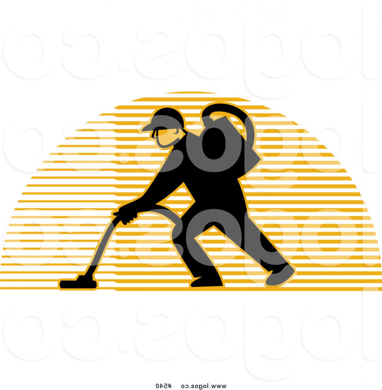 Janitorial Vector: Royalty Free Vector Logo Of A Carpet Cleaner By Patrimonio